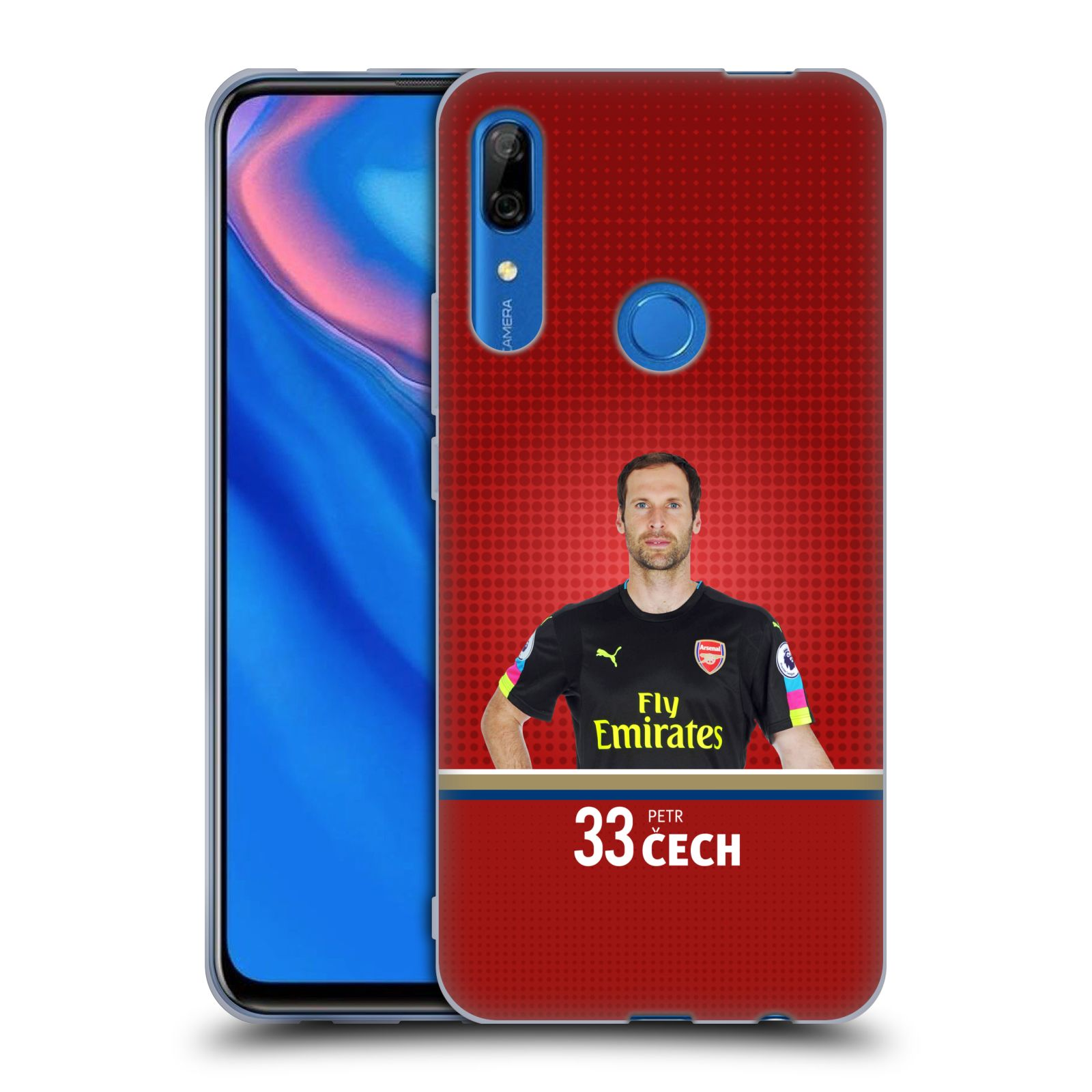 Silikonové pouzdro na mobil Huawei P Smart Z - Head Case - Arsenal FC - Petr Čech