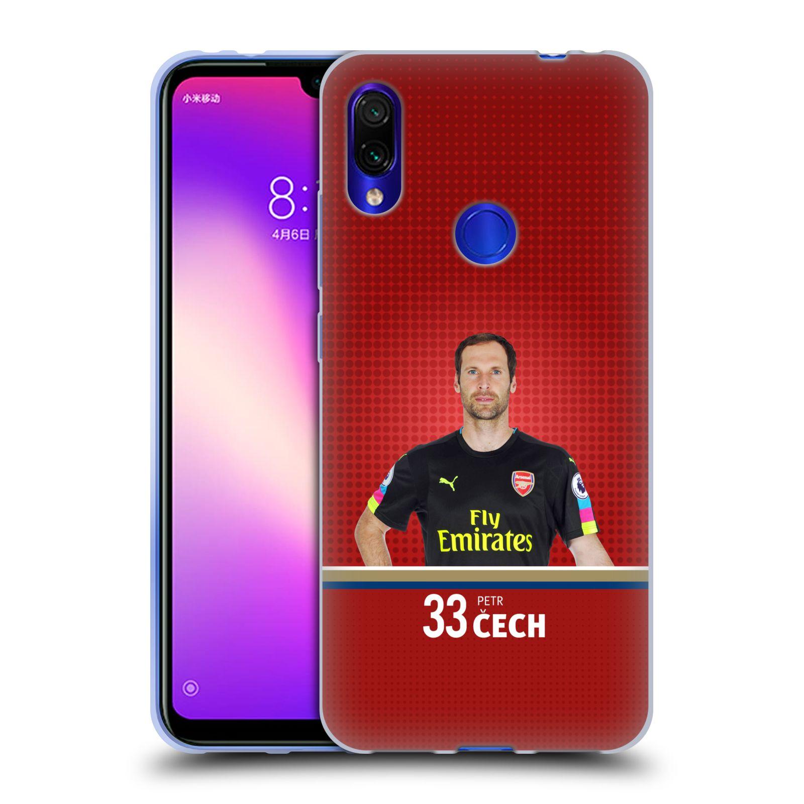 Silikonové pouzdro na mobil Xiaomi Redmi Note 7 - Head Case - Arsenal FC - Petr Čech