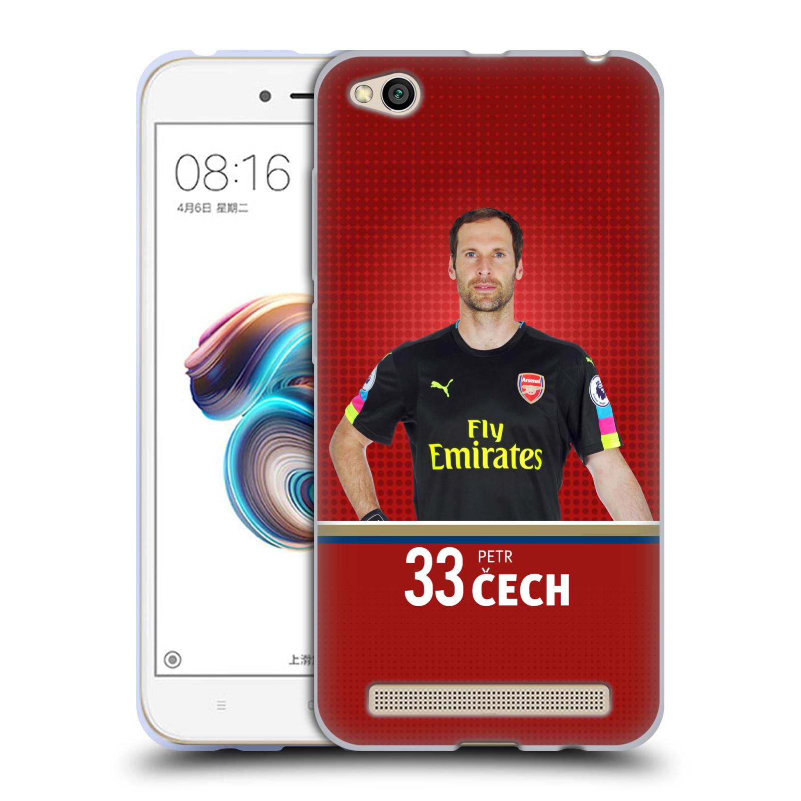 Silikonové pouzdro na mobil Xiaomi Redmi 5A - Head Case - Arsenal FC - Petr Čech