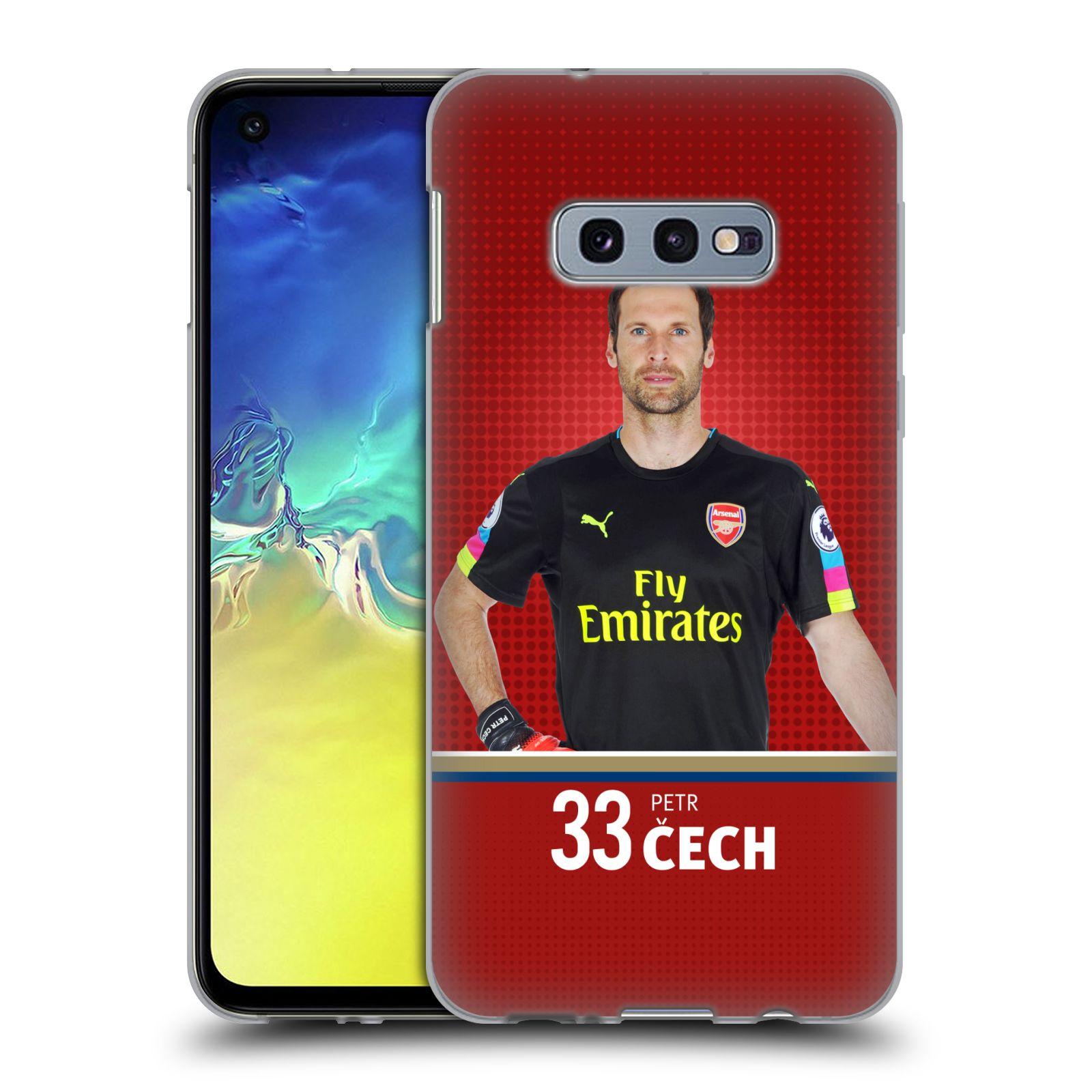 Silikonové pouzdro na mobil Samsung Galaxy S10e - Head Case - Arsenal FC - Petr Čech