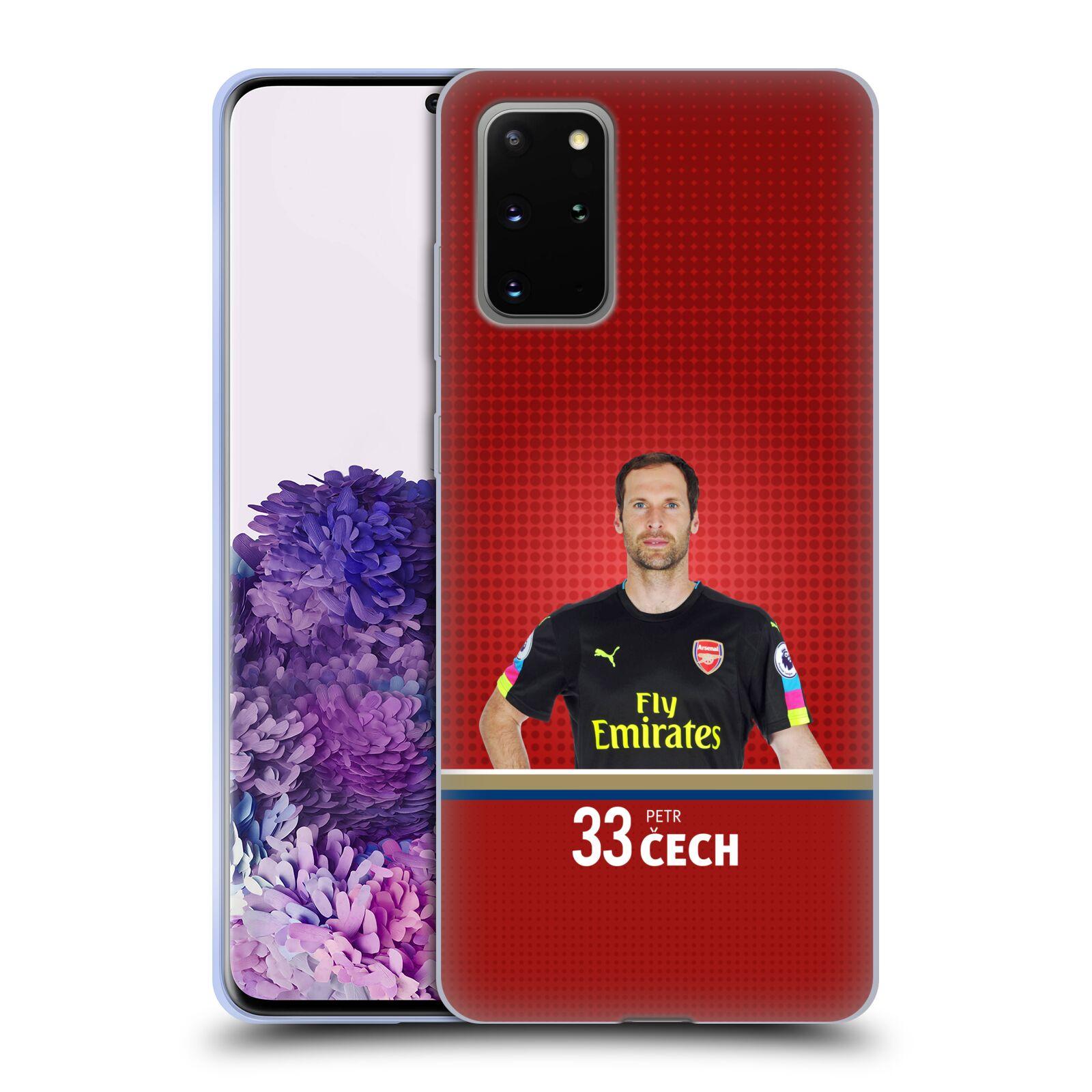 Silikonové pouzdro na mobil Samsung Galaxy S20 Plus - Head Case - Arsenal FC - Petr Čech