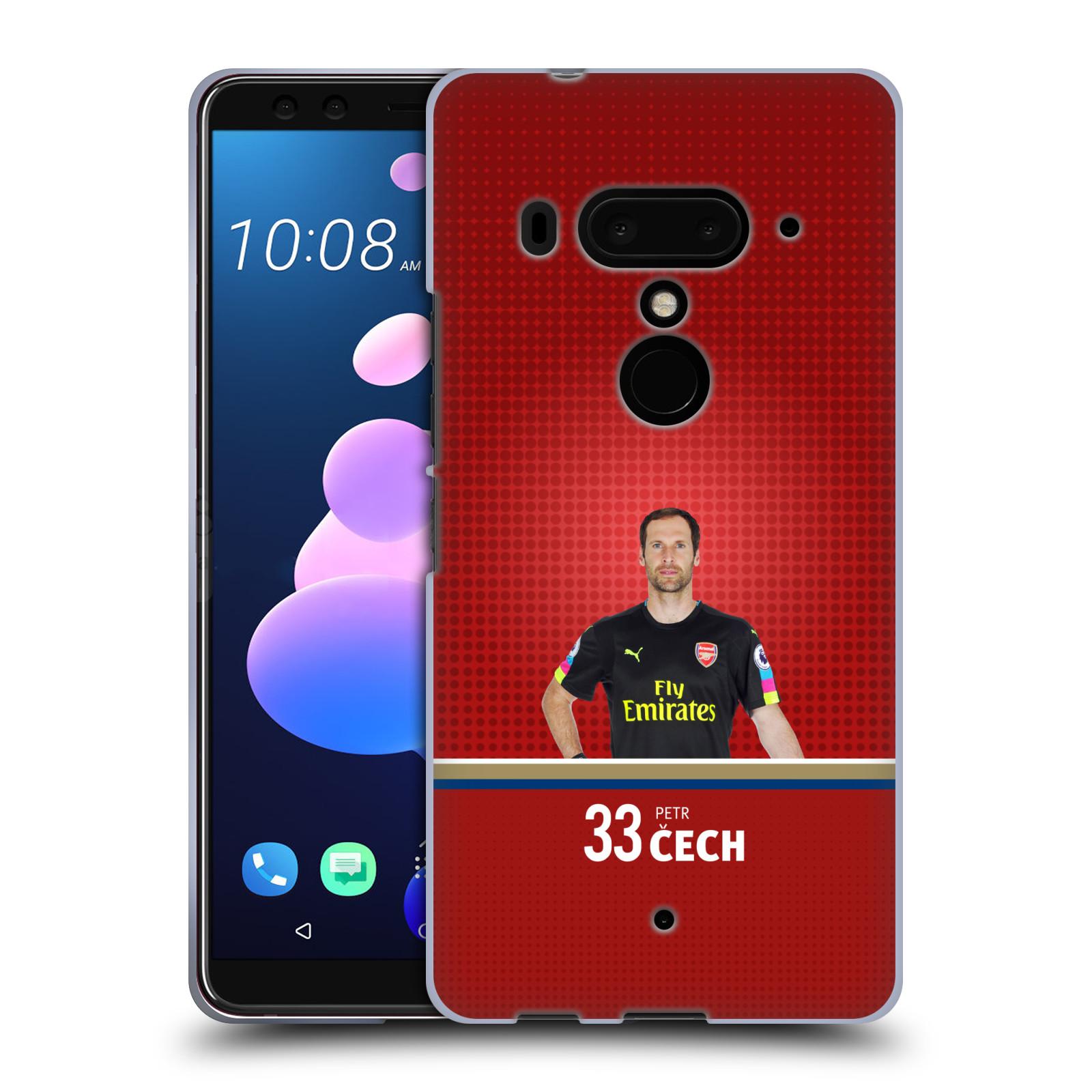 Silikonové pouzdro na mobil HTC U12 Plus - Head Case - Arsenal FC - Petr Čech