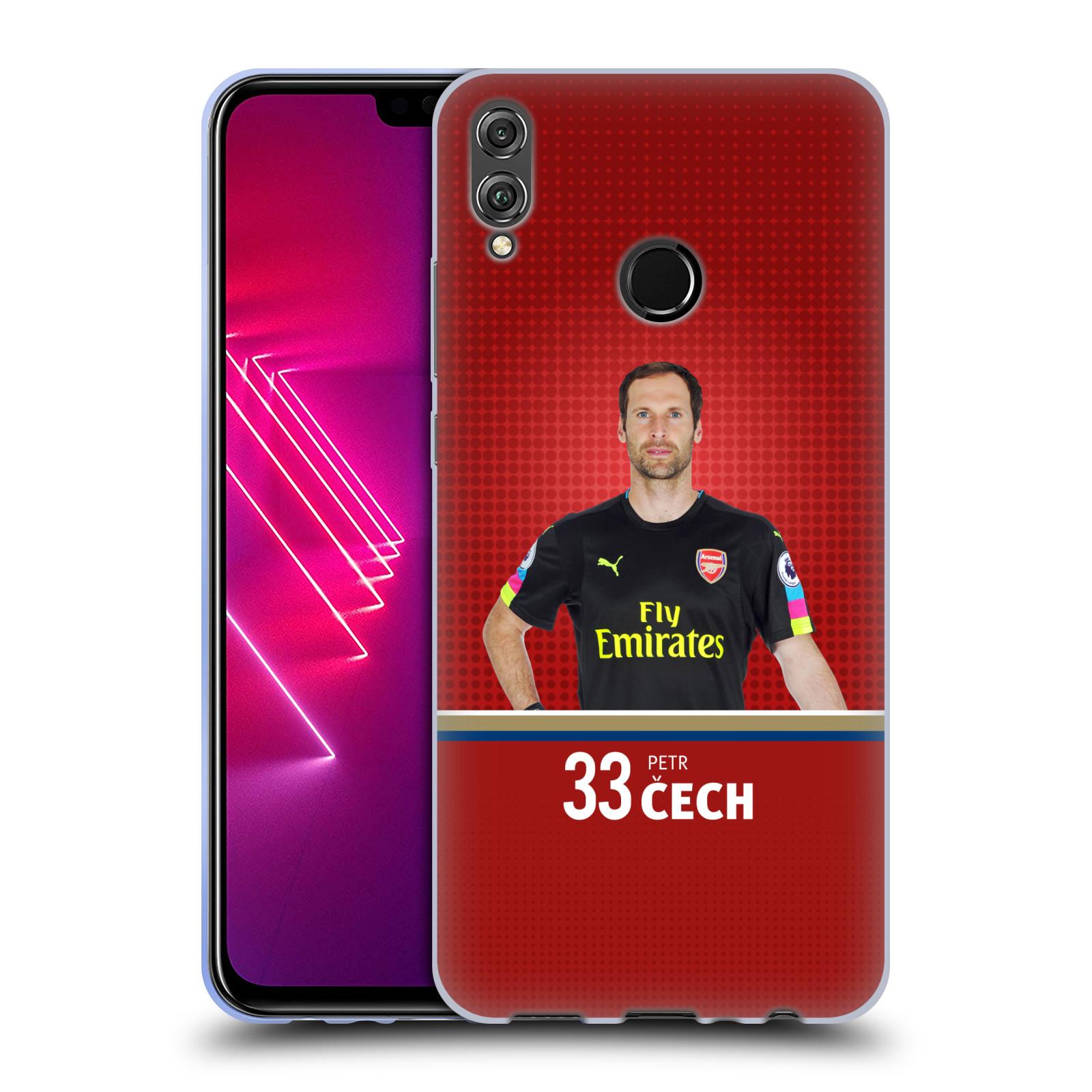 Silikonové pouzdro na mobil Honor View 10 Lite - Head Case - Arsenal FC - Petr Čech