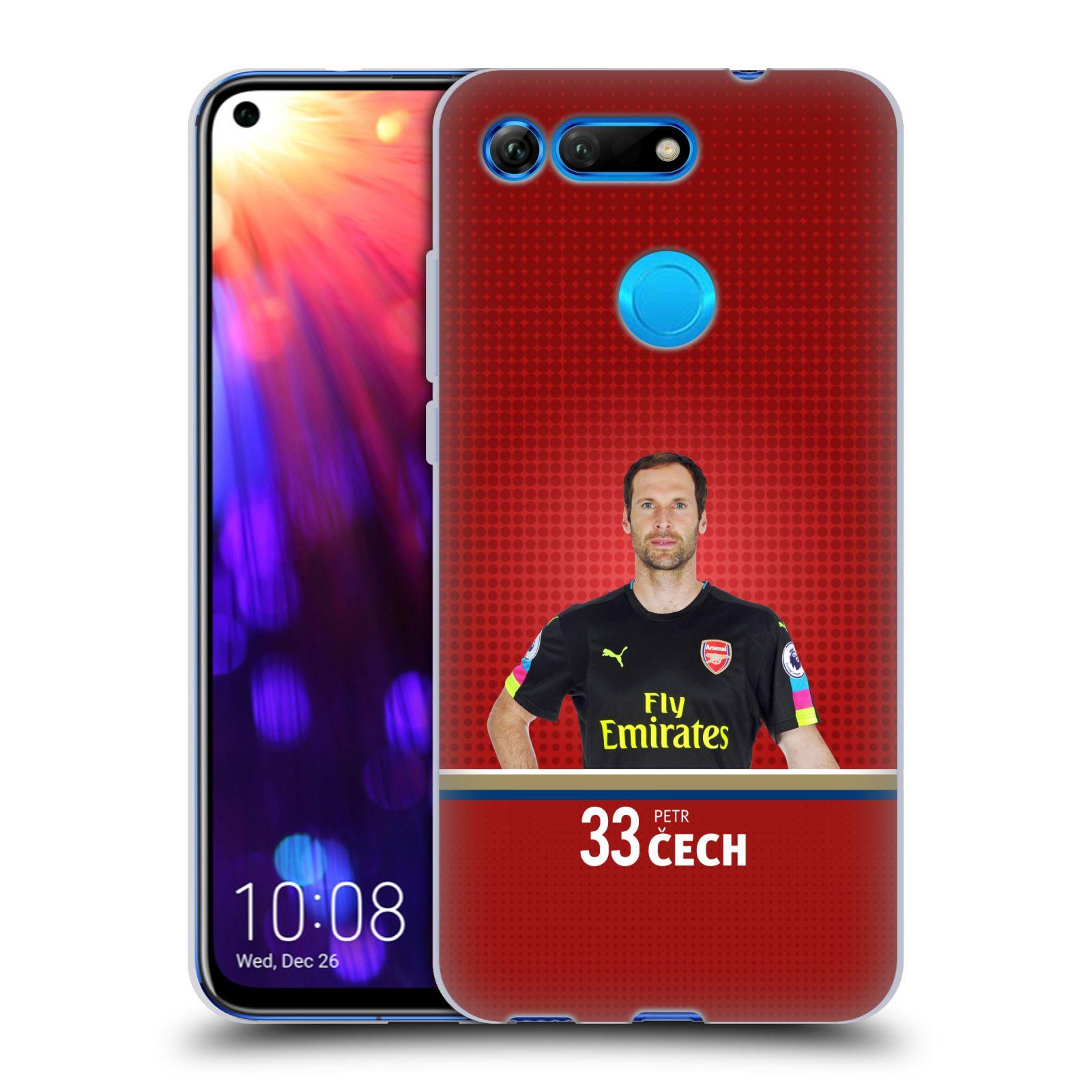 Silikonové pouzdro na mobil Honor View 20 - Head Case - Arsenal FC - Petr Čech