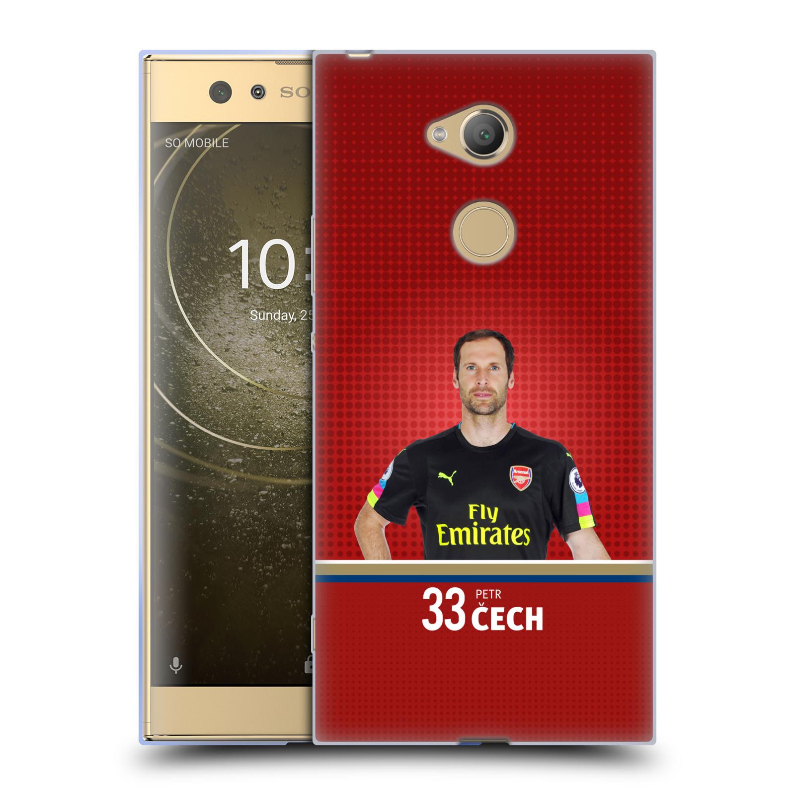 Silikonové pouzdro na mobil Sony Xperia XA2 Ultra - Head Case - Arsenal FC - Petr Čech