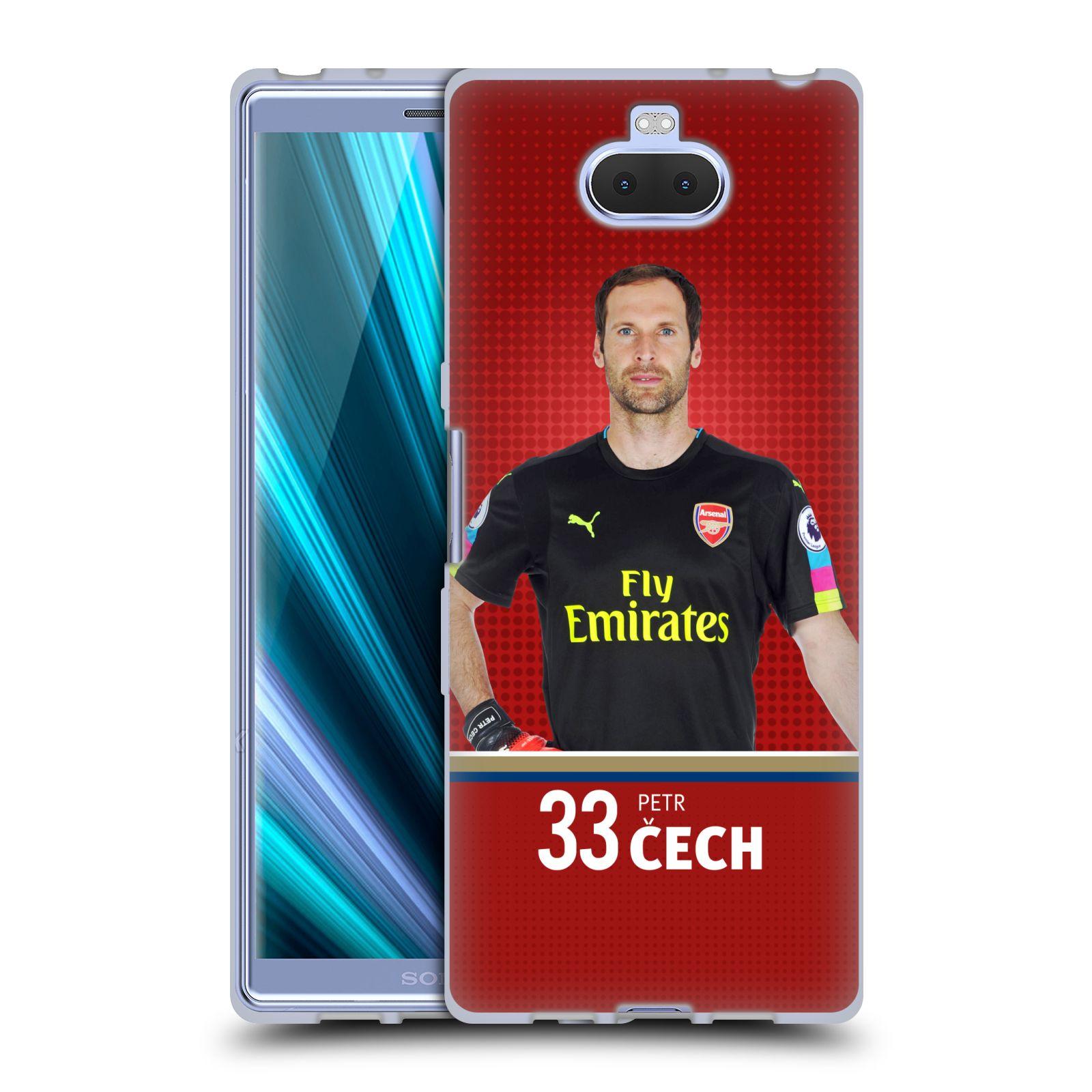 Silikonové pouzdro na mobil Sony Xperia 10 - Head Case - Arsenal FC - Petr Čech