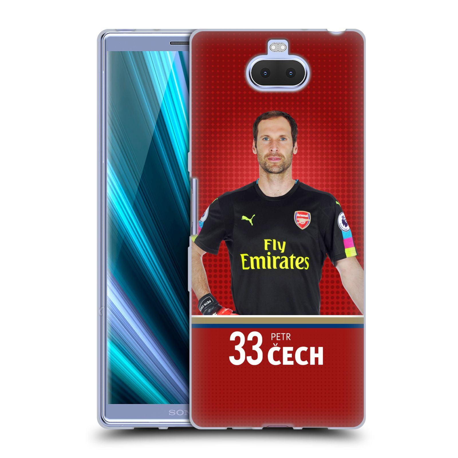 Silikonové pouzdro na mobil Sony Xperia 10 Plus - Head Case - Arsenal FC - Petr Čech