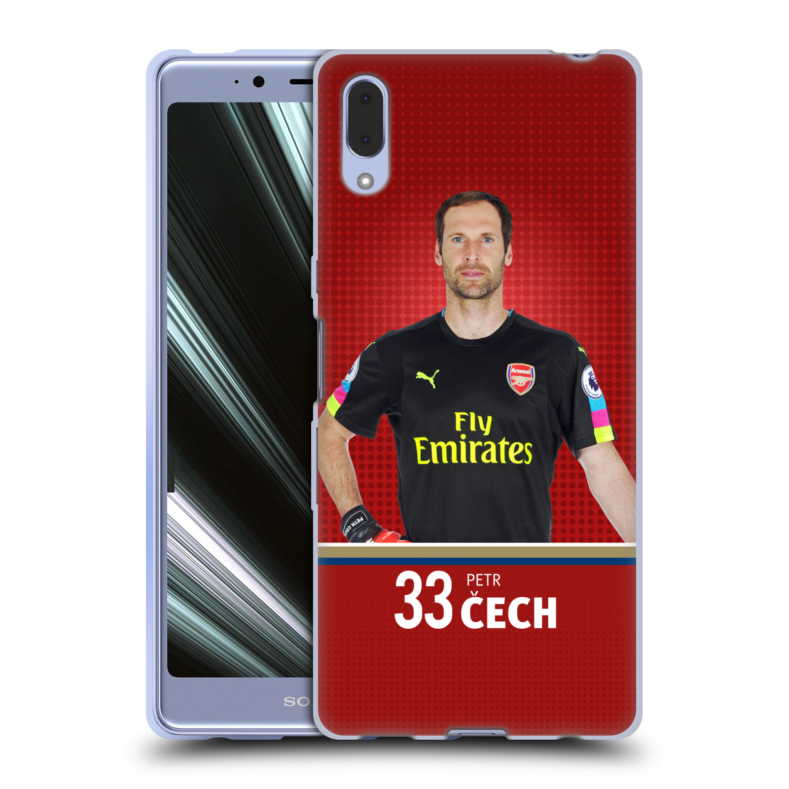Silikonové pouzdro na mobil Sony Xperia L3 - Head Case - Arsenal FC - Petr Čech