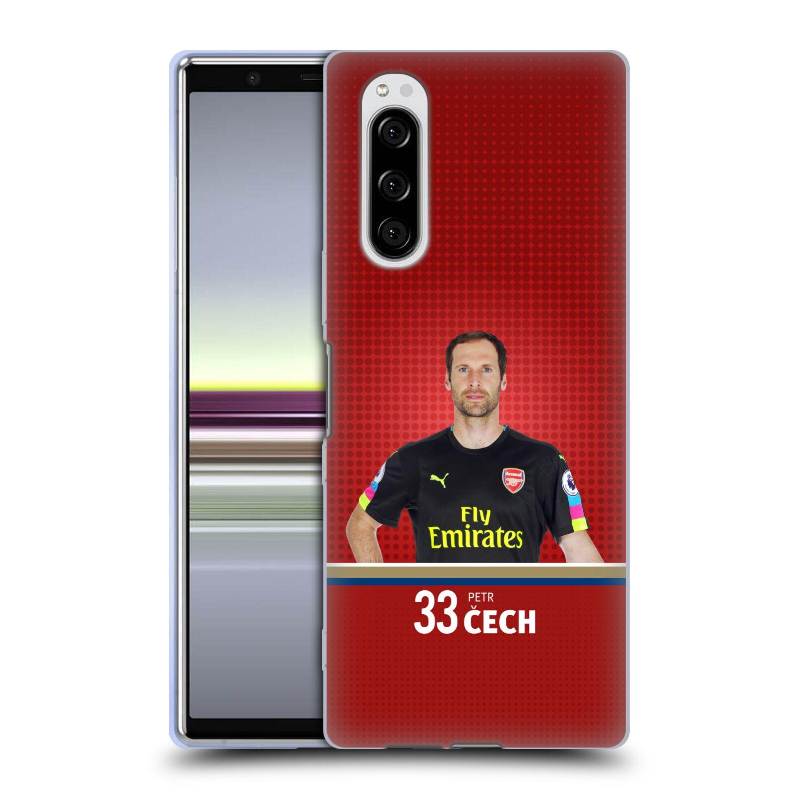 Silikonové pouzdro na mobil Sony Xperia 5 - Head Case - Arsenal FC - Petr Čech
