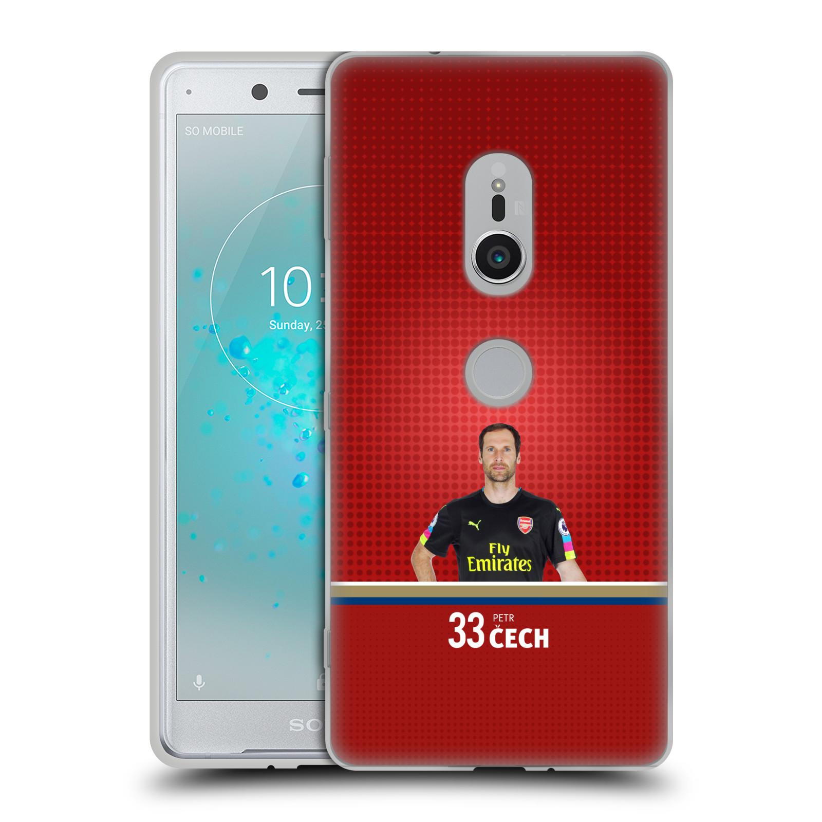 Silikonové pouzdro na mobil Sony Xperia XZ2 - Head Case - Arsenal FC - Petr Čech