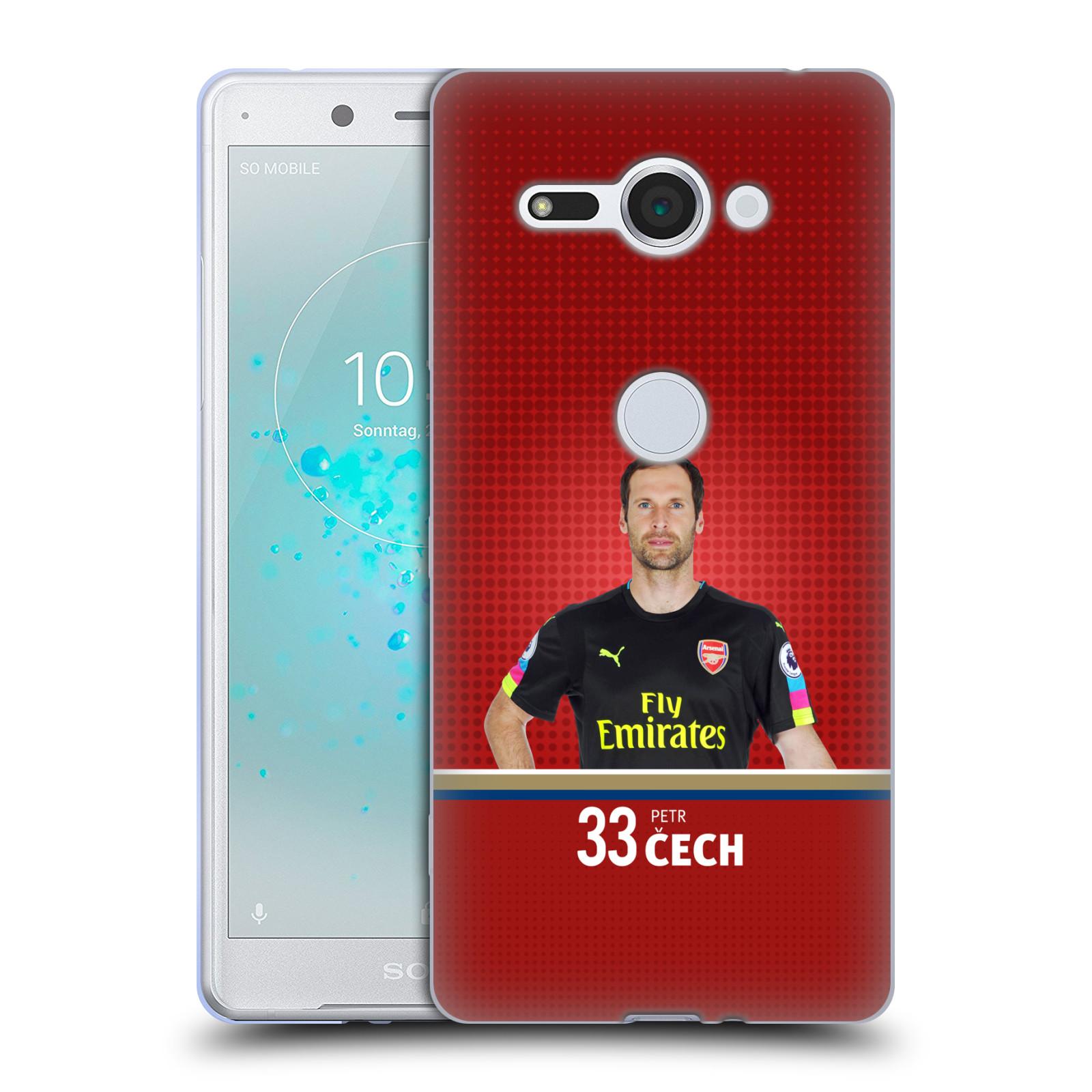Silikonové pouzdro na mobil Sony Xperia XZ2 Compact - Head Case - Arsenal FC - Petr Čech