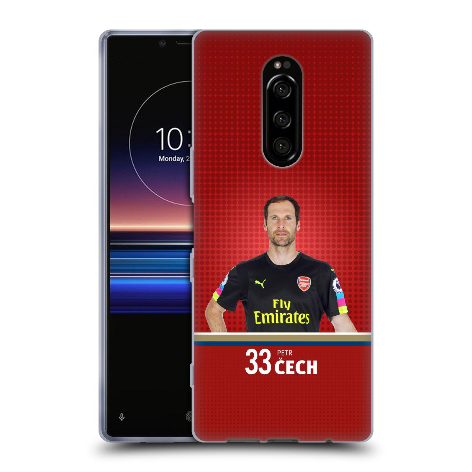 Silikonové pouzdro na mobil Sony Xperia 1 - Head Case - Arsenal FC - Petr Čech