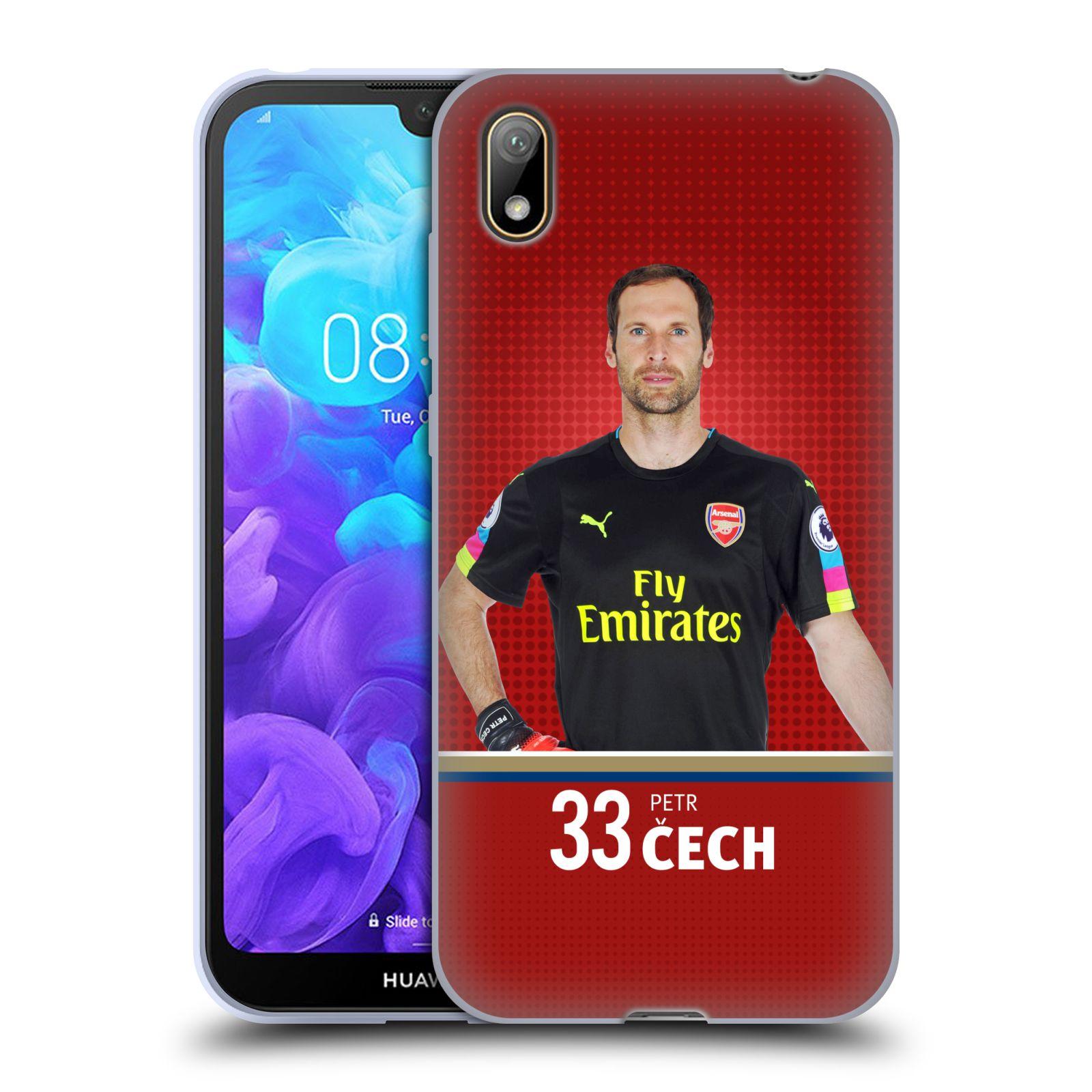 Silikonové pouzdro na mobil Huawei Y5 (2019) - Head Case - Arsenal FC - Petr Čech