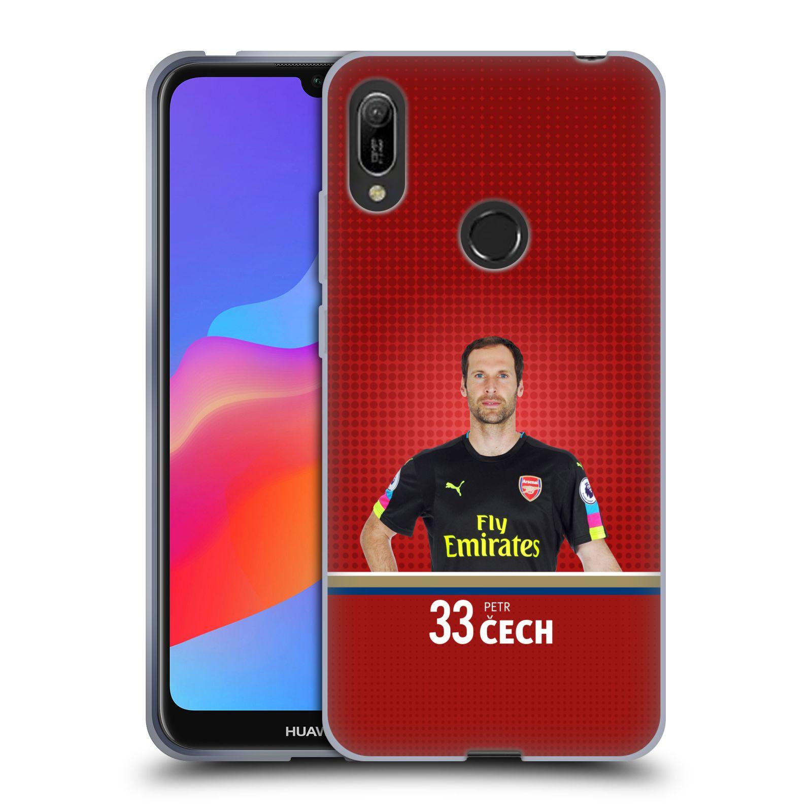 Silikonové pouzdro na mobil Huawei Y6 (2019) - Head Case - Arsenal FC - Petr Čech