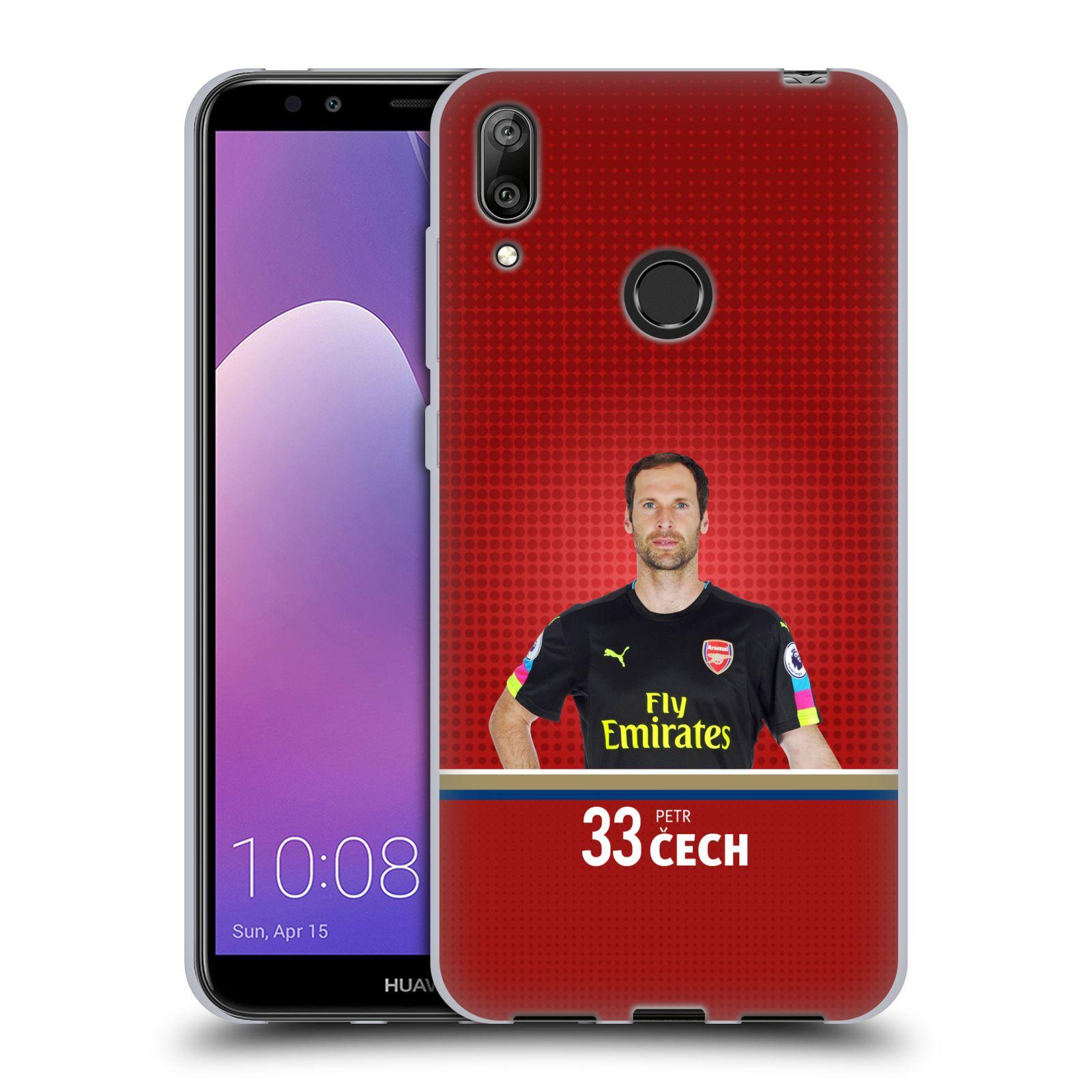 Silikonové pouzdro na mobil Huawei Y7 (2019) - Head Case - Arsenal FC - Petr Čech