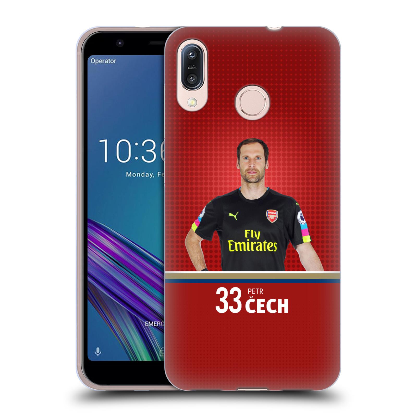 Silikonové pouzdro na mobil Asus Zenfone Max M1 ZB555KL - Head Case - Arsenal FC - Petr Čech