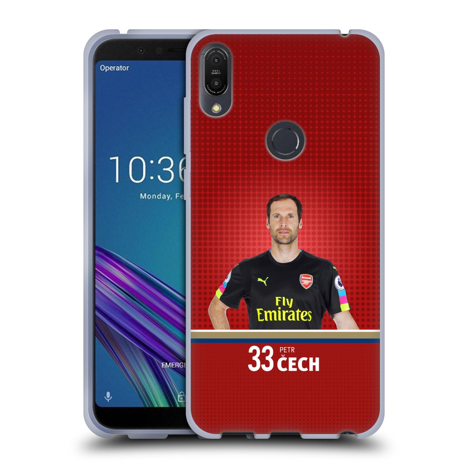 Silikonové pouzdro na mobil Asus ZenFone Max Pro (M1) - Head Case - Arsenal FC - Petr Čech