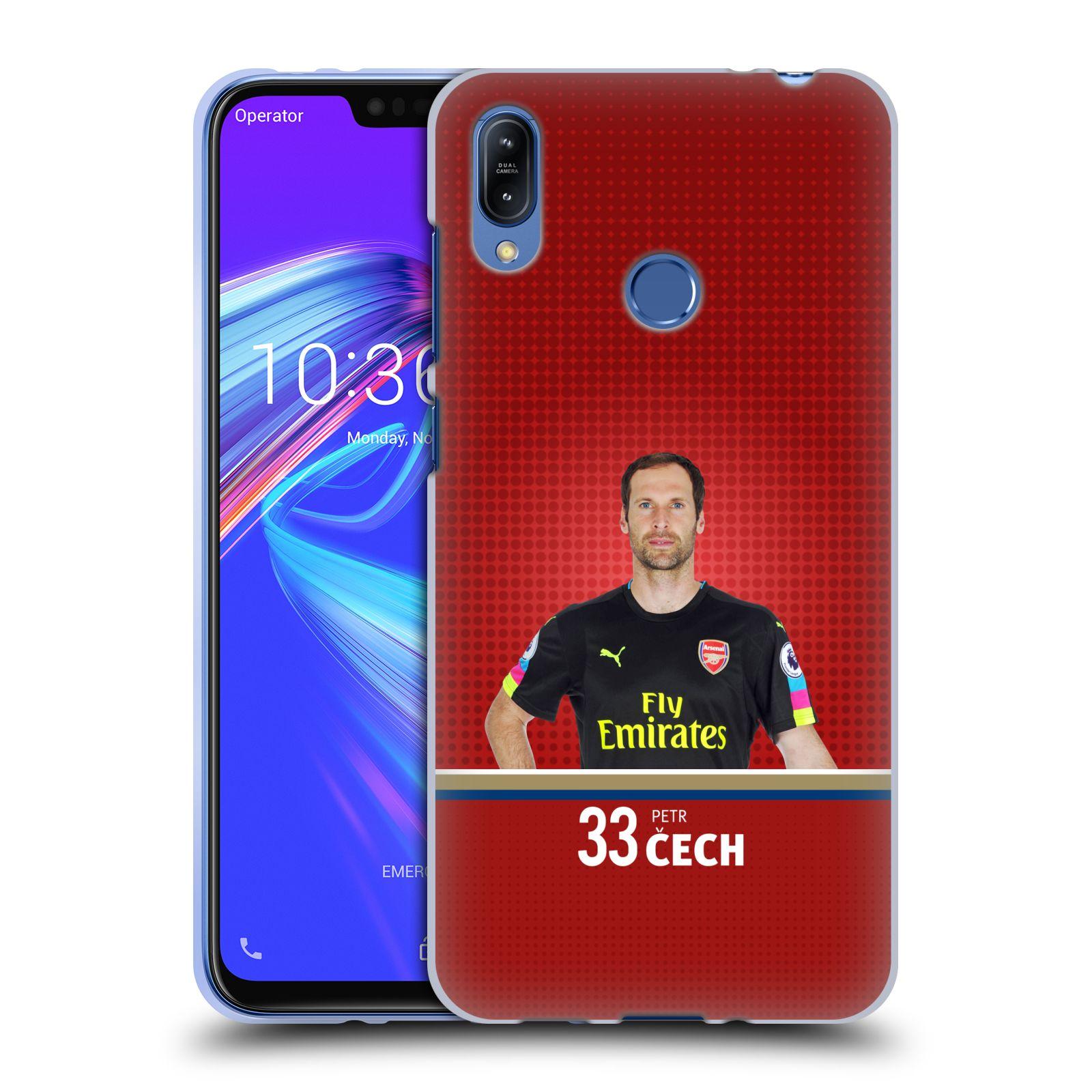 Silikonové pouzdro na mobil Asus Zenfone Max (M2) ZB633KL - Head Case - Arsenal FC - Petr Čech
