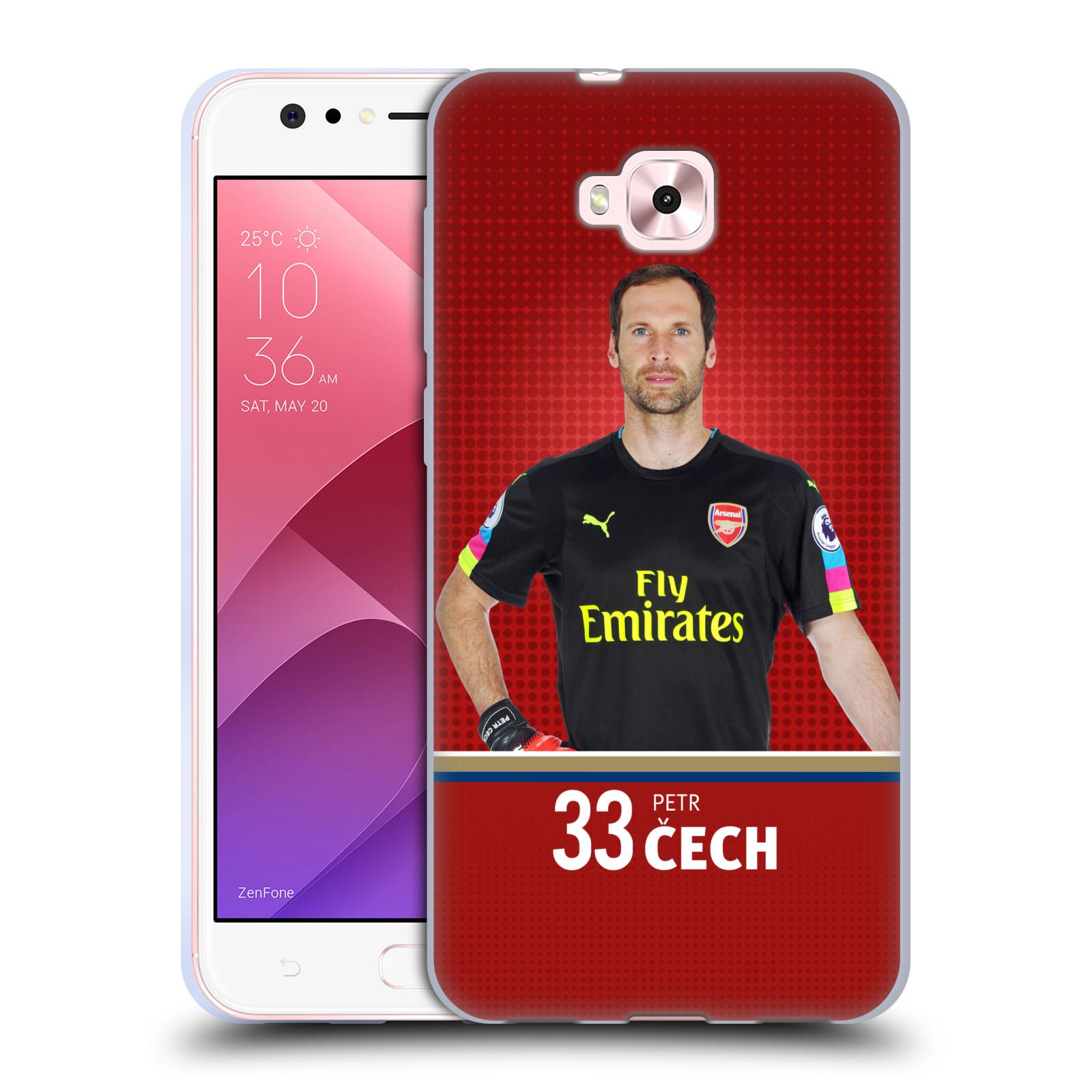 Silikonové pouzdro na mobil Asus Zenfone 4 Selfie ZD553KL - Head Case - Arsenal FC - Petr Čech