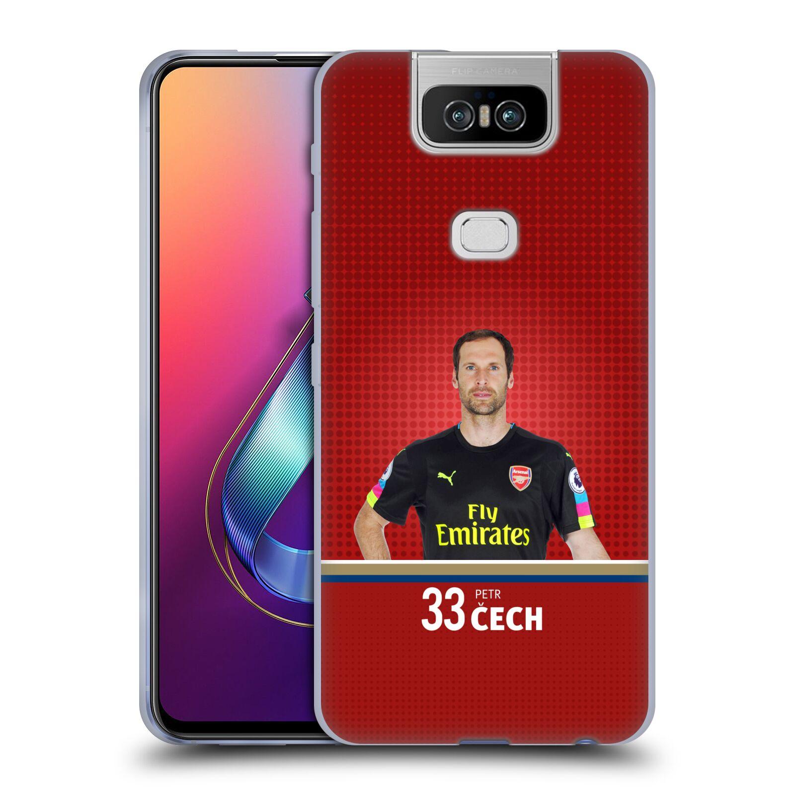 Silikonové pouzdro na mobil Asus Zenfone 6 ZS630KL - Head Case - Arsenal FC - Petr Čech
