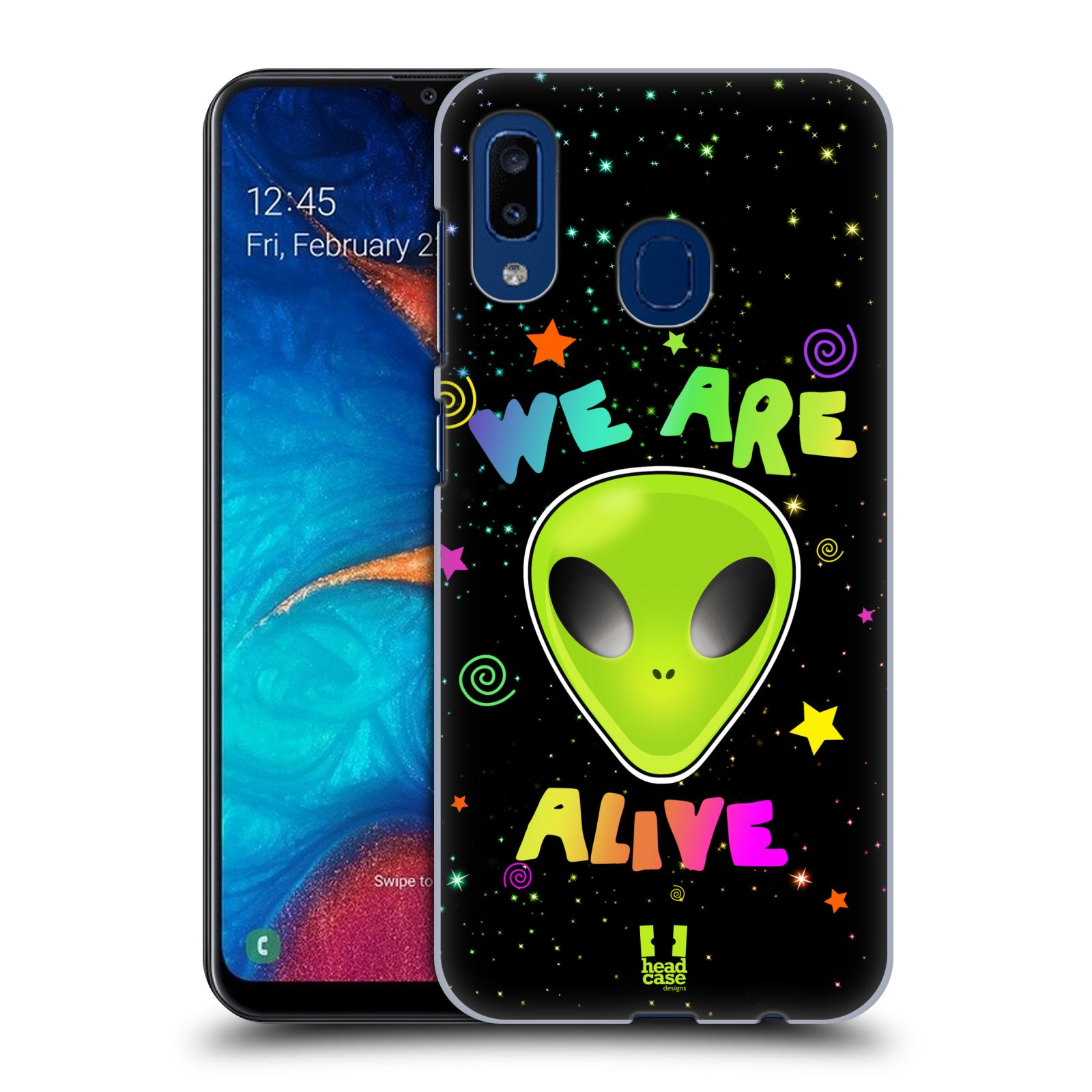 Plastové pouzdro na mobil Samsung Galaxy A20 - Head Case - ALIENS ALIVE