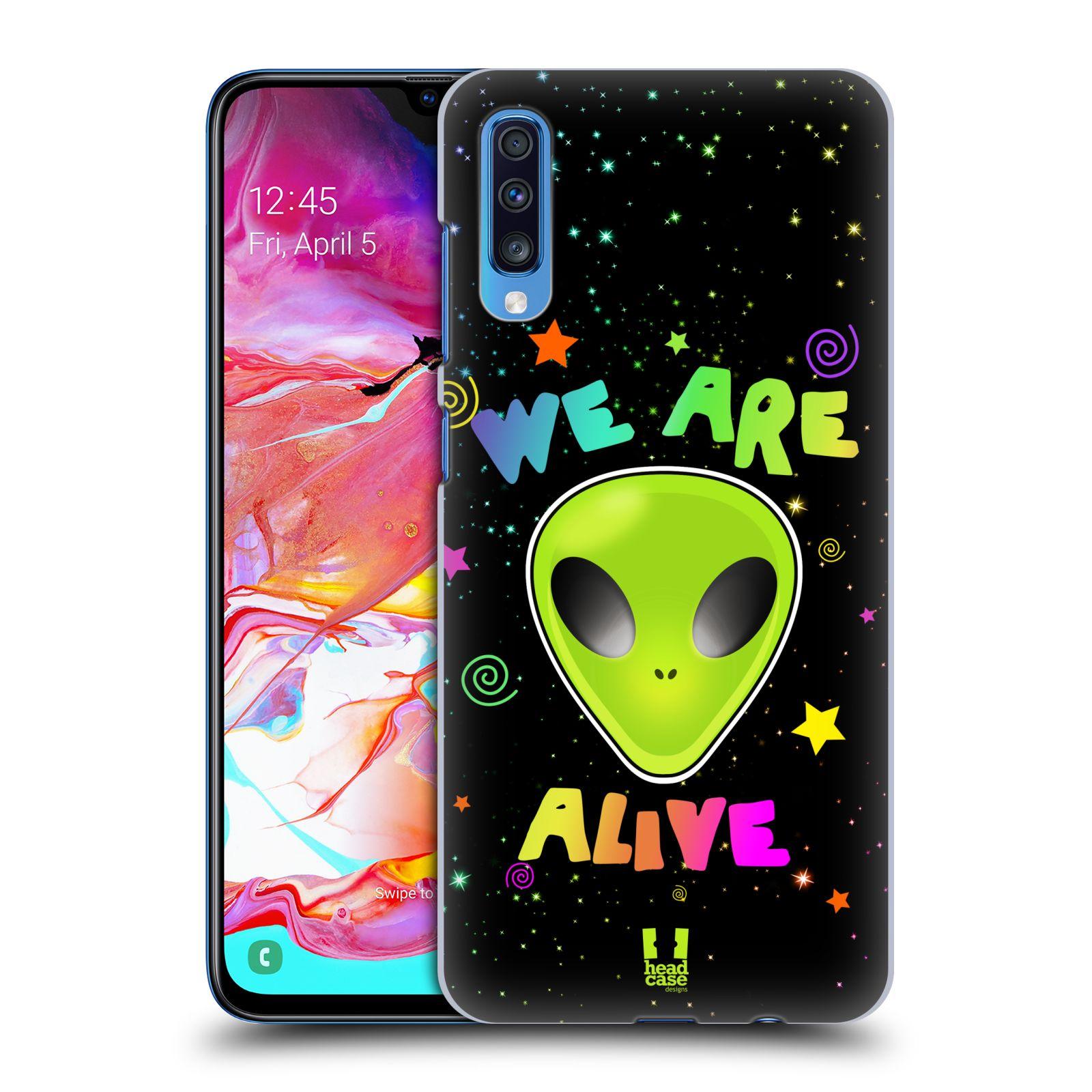 Plastové pouzdro na mobil Samsung Galaxy A70 - Head Case - ALIENS ALIVE