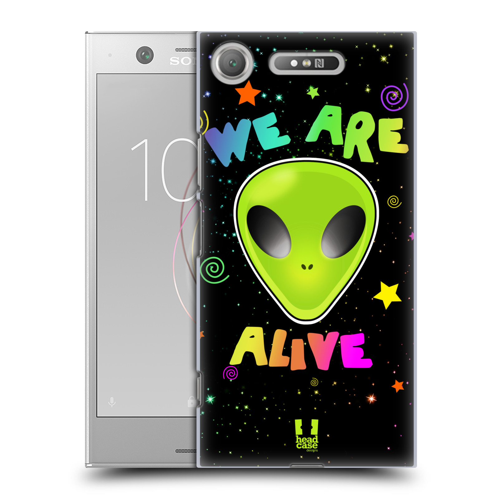 Plastové pouzdro na mobil Sony Xperia XZ1 - Head Case - ALIENS ALIVE