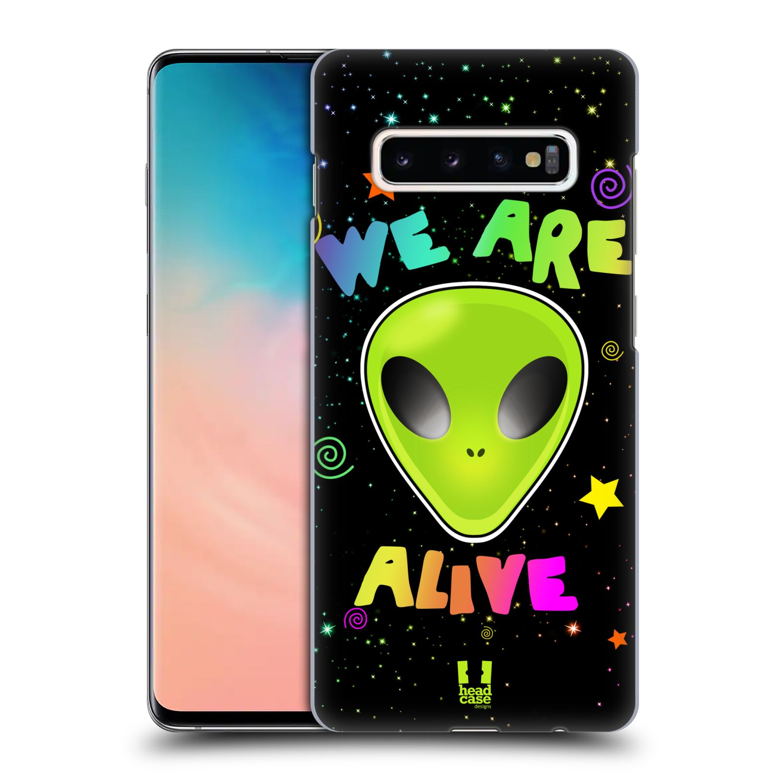 Plastové pouzdro na mobil Samsung Galaxy S10 Plus - Head Case - ALIENS ALIVE