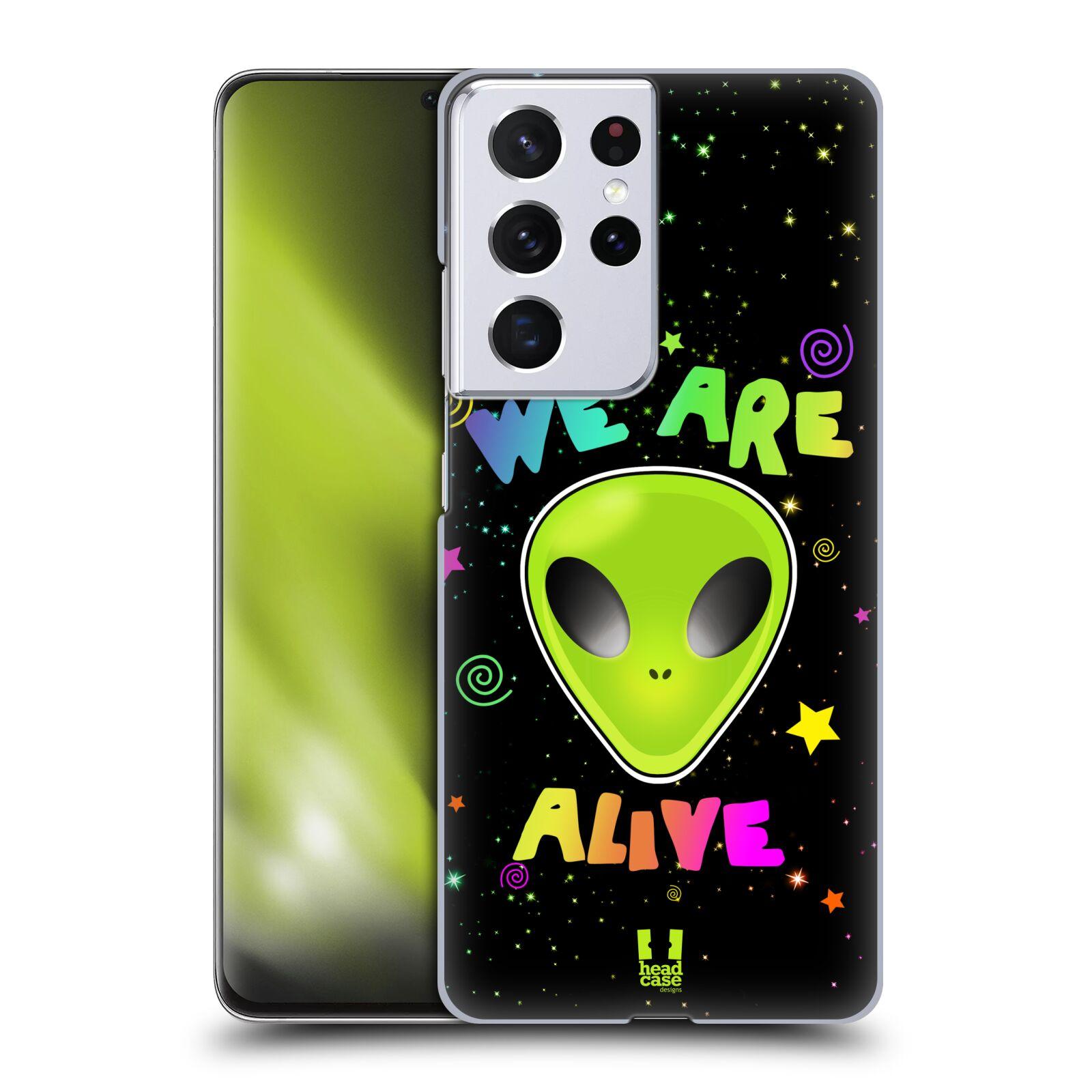 Plastové pouzdro na mobil Samsung Galaxy S21 Ultra 5G - Head Case - ALIENS ALIVE