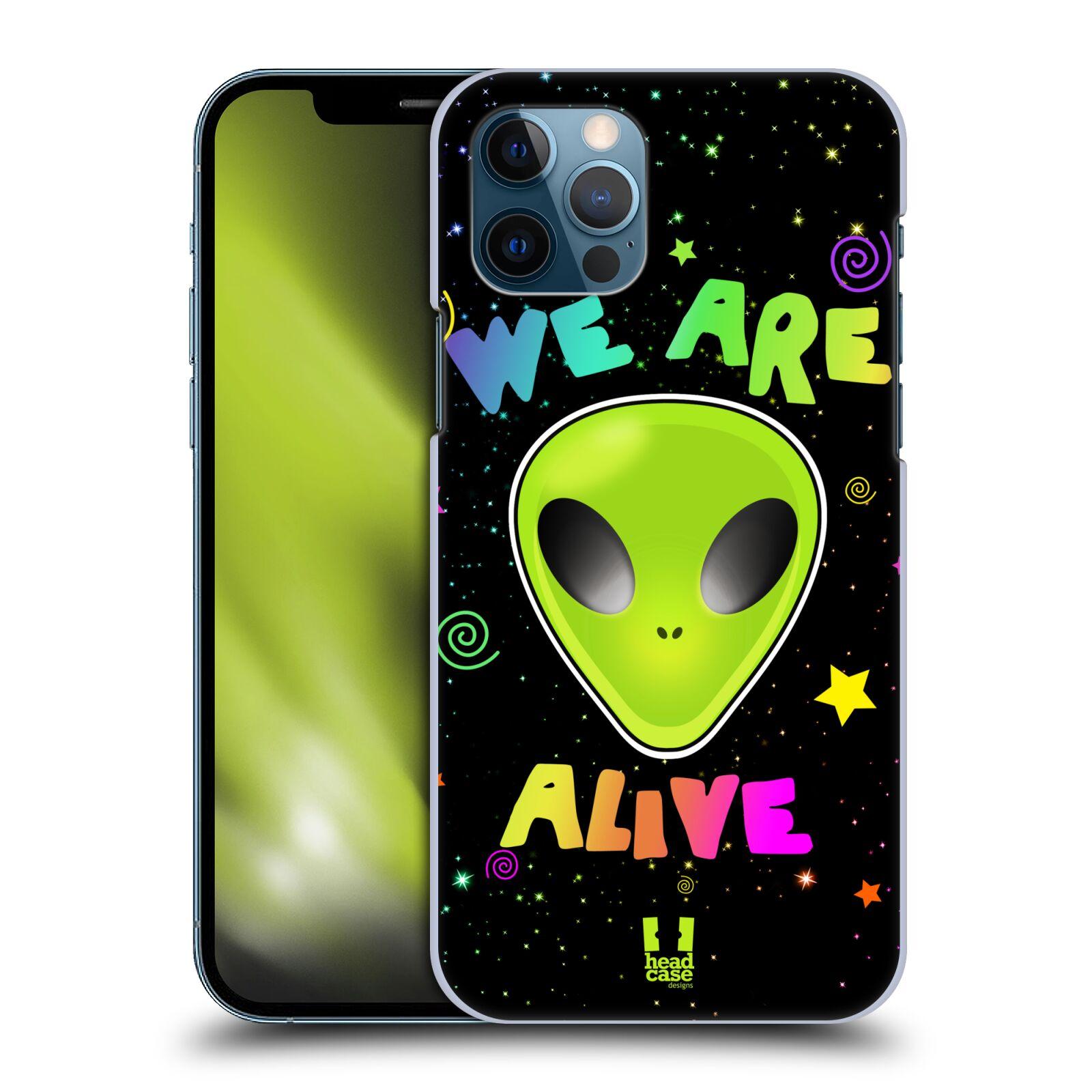 Plastové pouzdro na mobil Apple iPhone 12 / 12 Pro - Head Case - ALIENS ALIVE