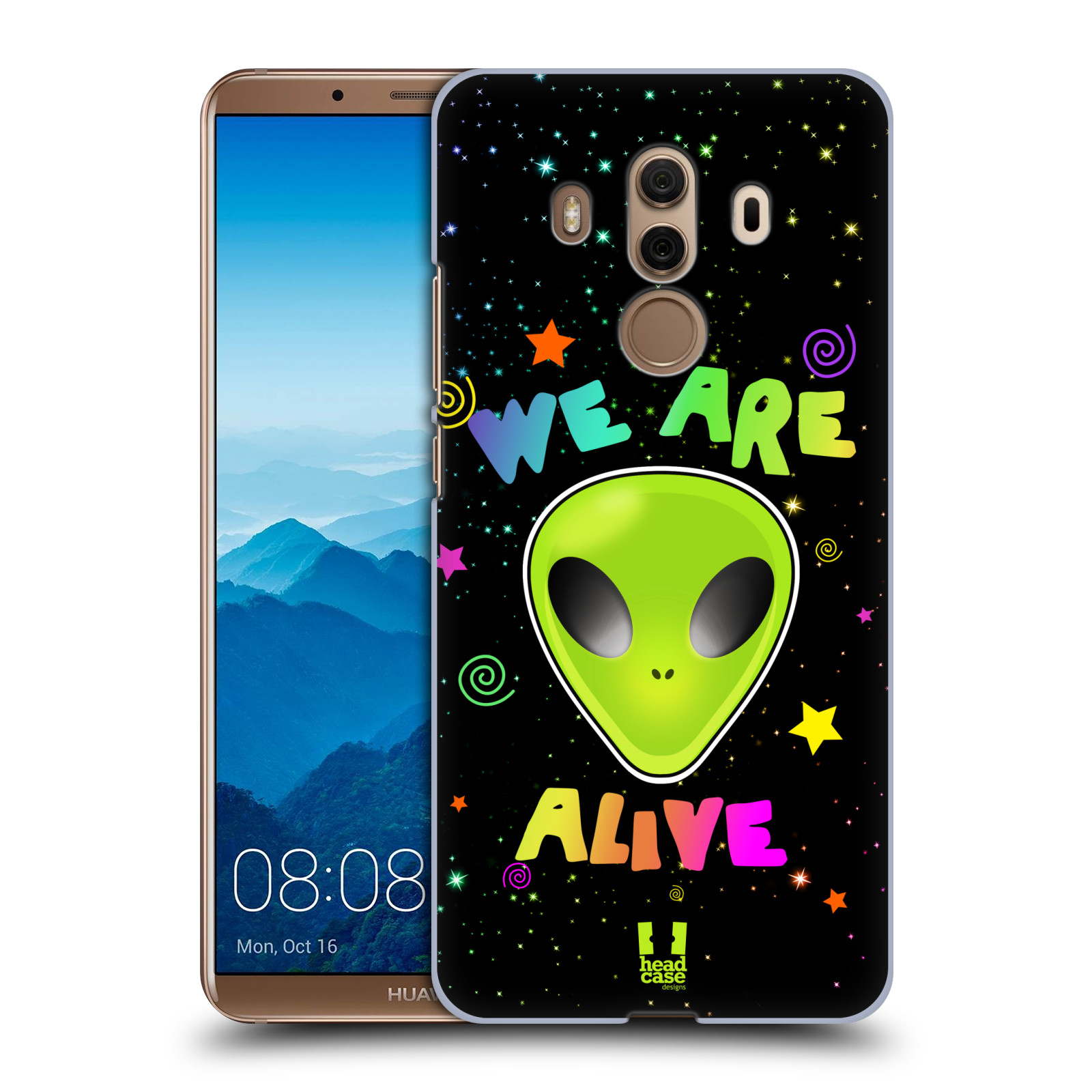 Plastové pouzdro na mobil Huawei Mate 10 Pro - Head Case - ALIENS ALIVE