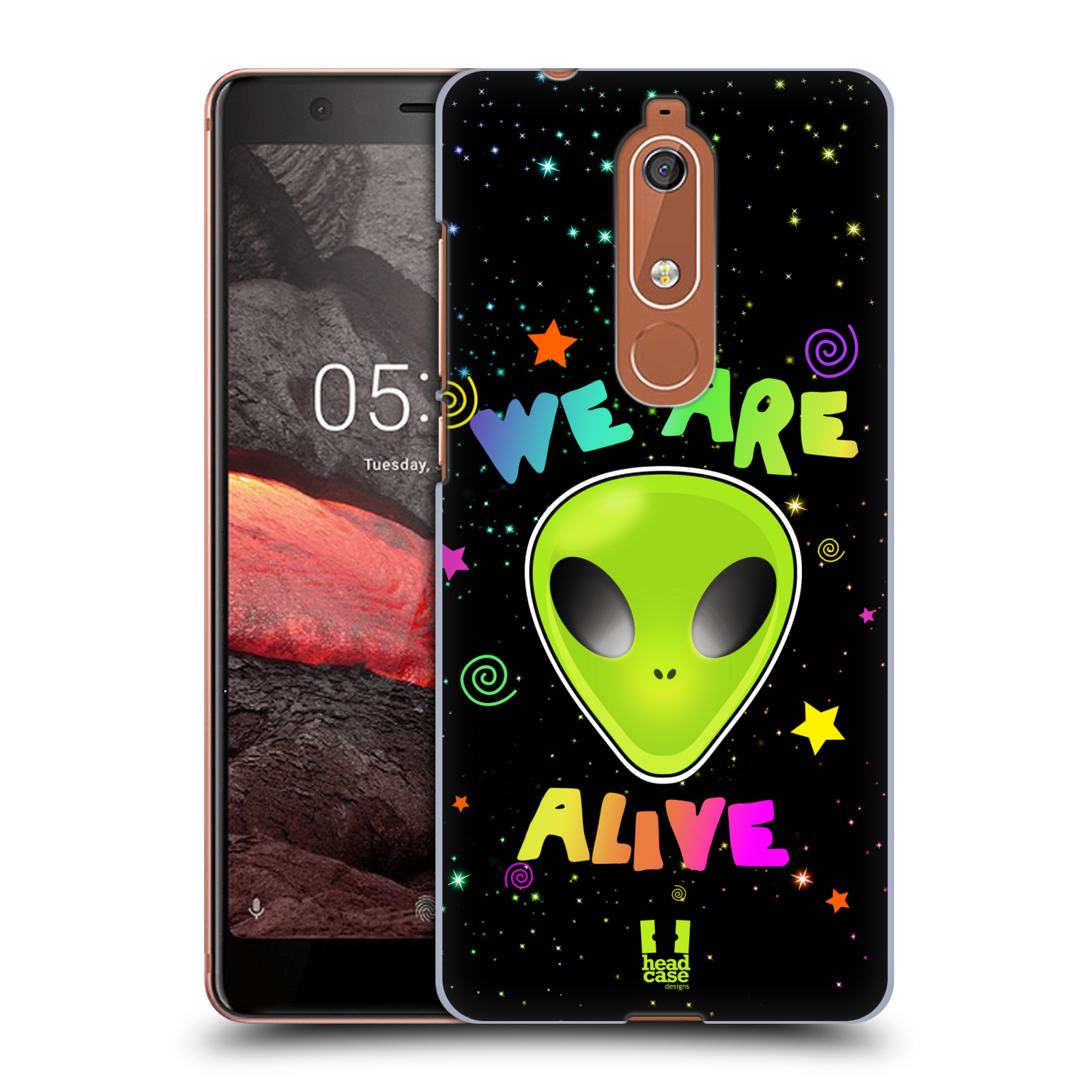 Plastové pouzdro na mobil Nokia 5.1 - Head Case - ALIENS ALIVE