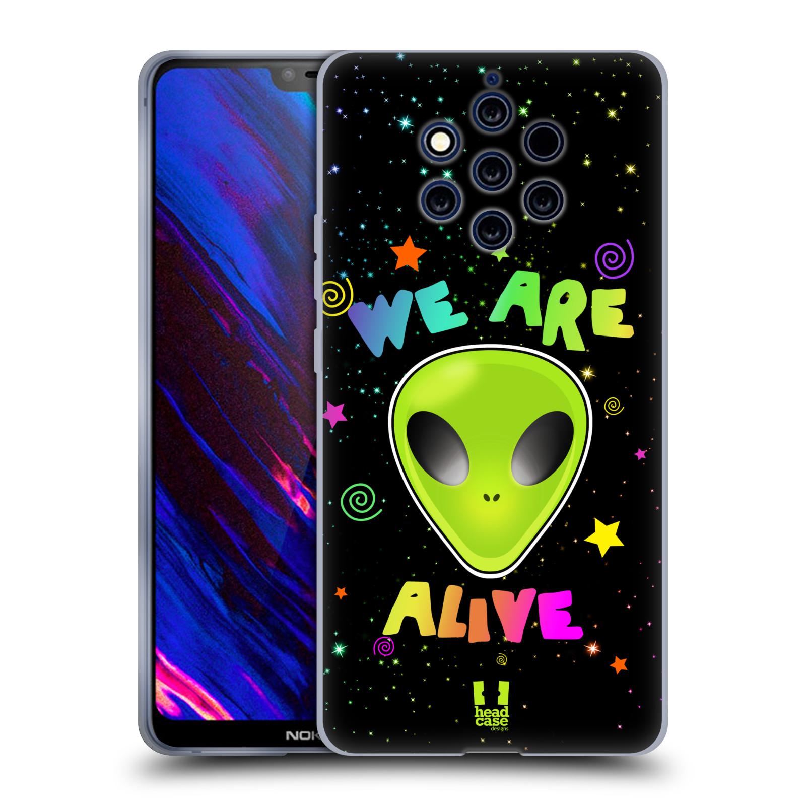 Silikonové pouzdro na mobil Nokia 9 PureView - Head Case - ALIENS ALIVE