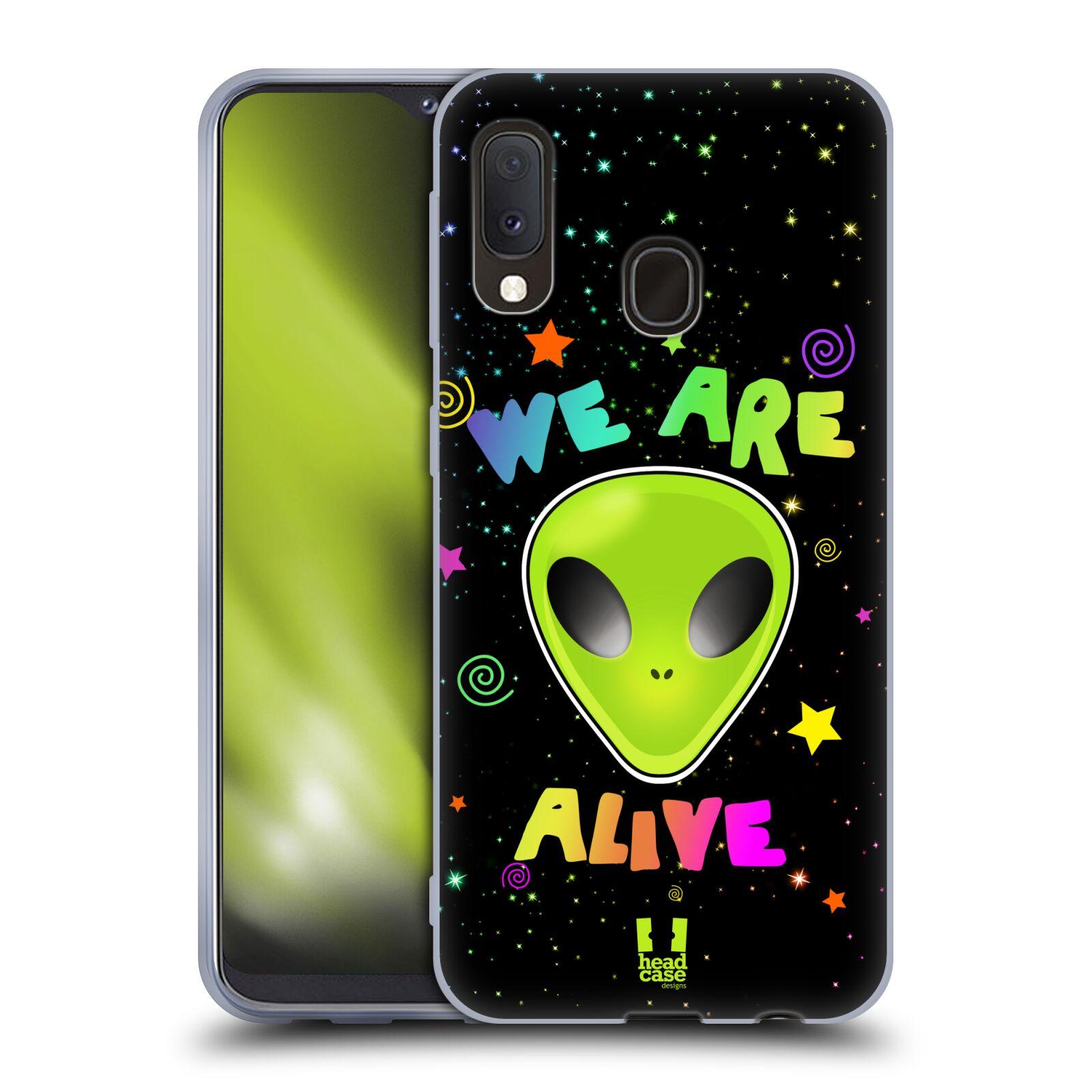 Silikonové pouzdro na mobil Samsung Galaxy A20e - Head Case - ALIENS ALIVE