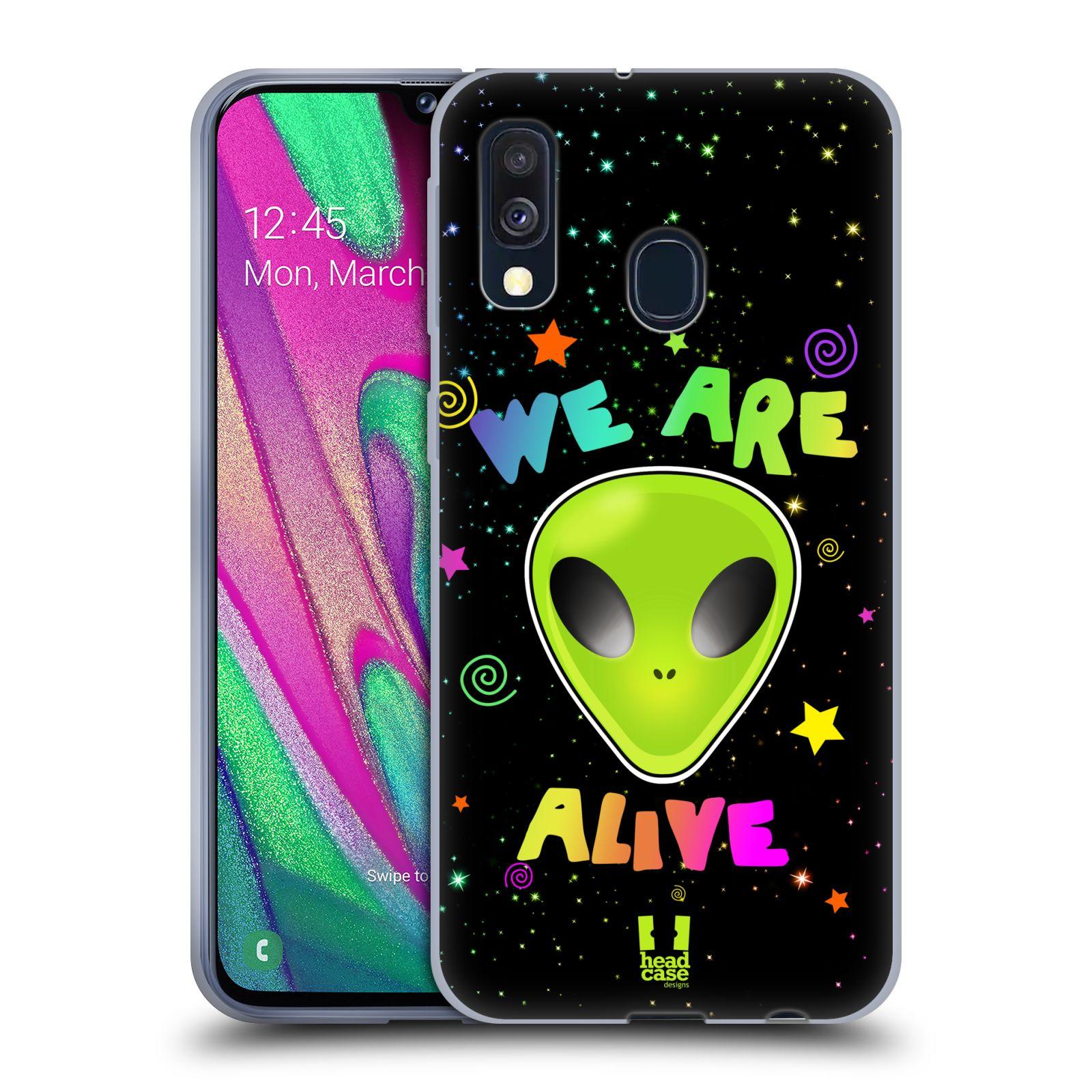 Silikonové pouzdro na mobil Samsung Galaxy A40 - Head Case - ALIENS ALIVE