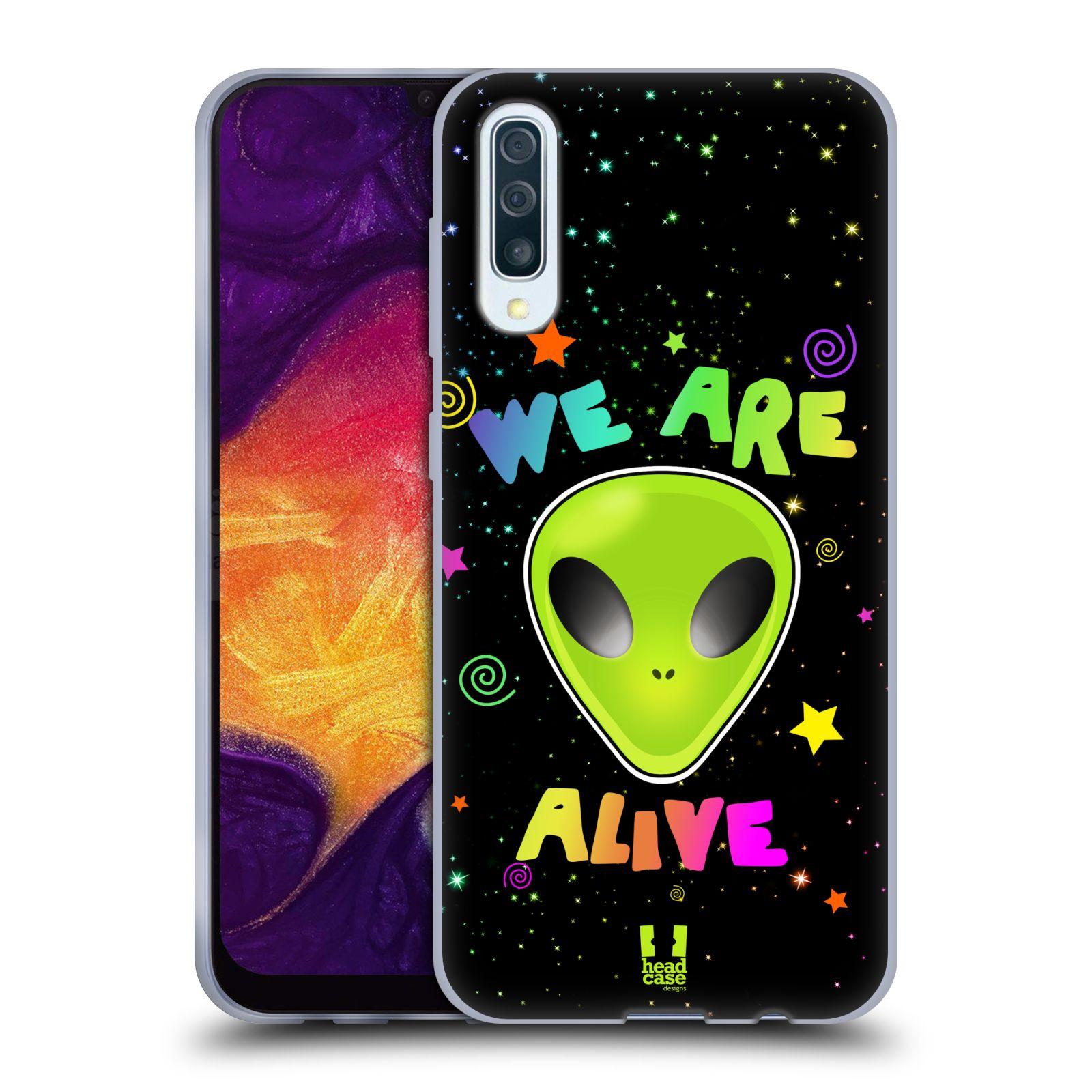 Silikonové pouzdro na mobil Samsung Galaxy A50 / A30s - Head Case - ALIENS ALIVE