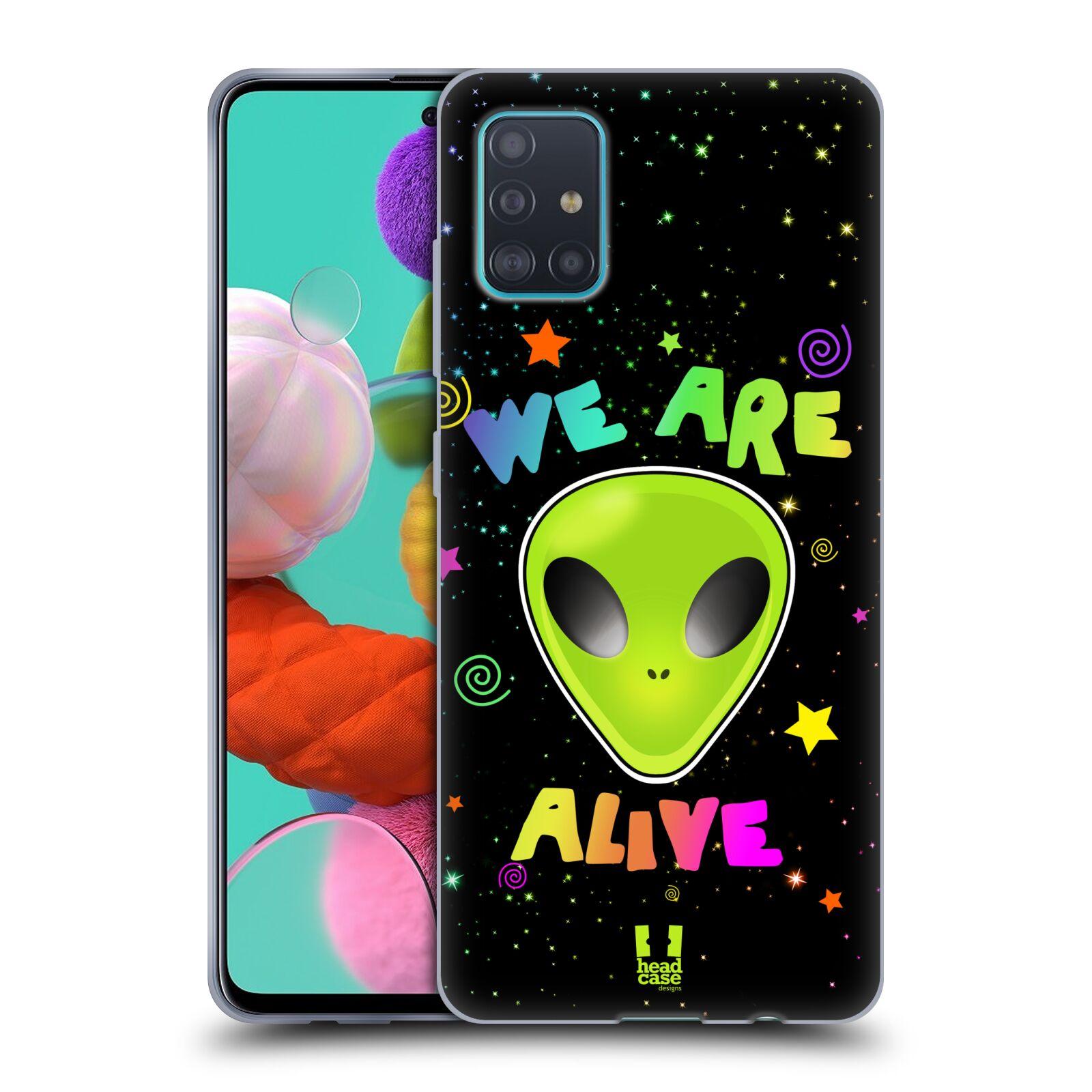Silikonové pouzdro na mobil Samsung Galaxy A51 - Head Case - ALIENS ALIVE