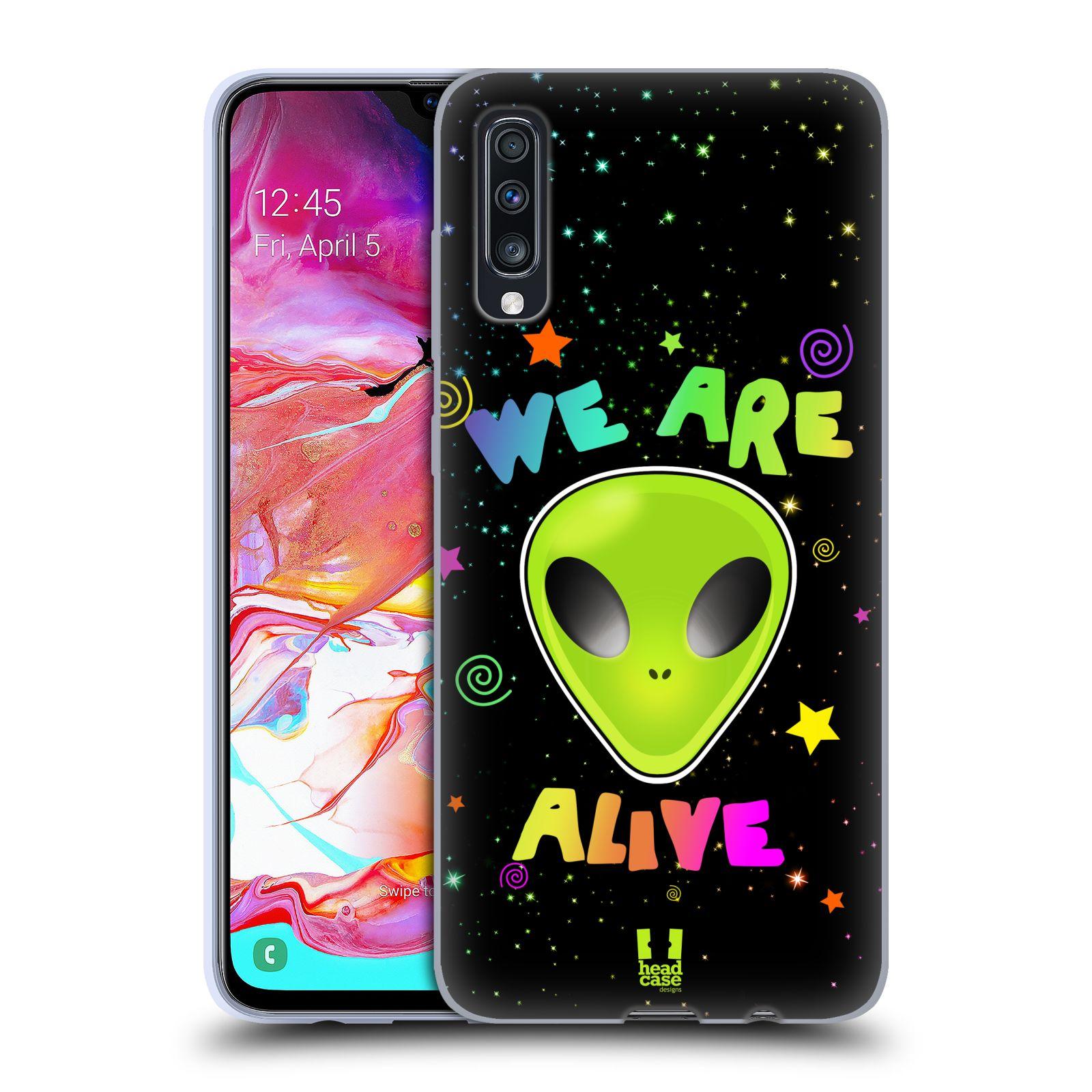 Silikonové pouzdro na mobil Samsung Galaxy A70 - Head Case - ALIENS ALIVE