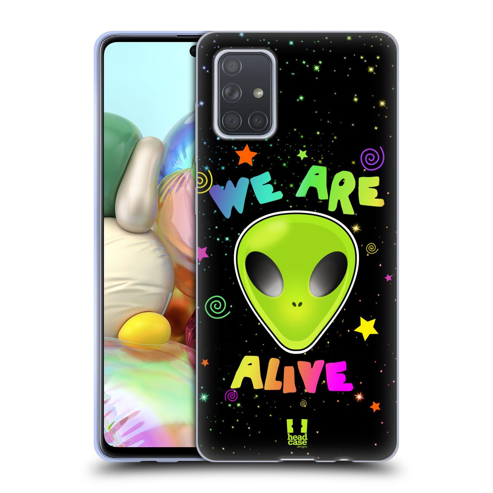 Silikonové pouzdro na mobil Samsung Galaxy A71 - Head Case - ALIENS ALIVE