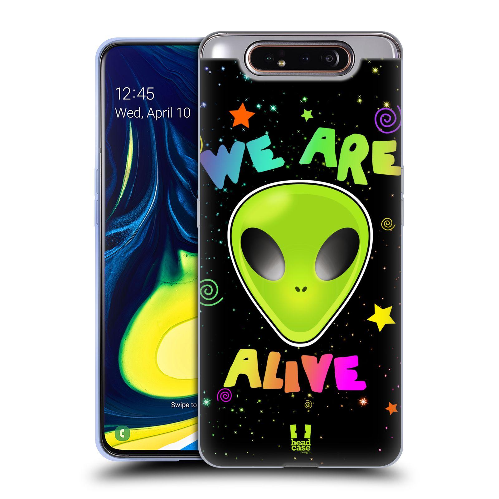 Silikonové pouzdro na mobil Samsung Galaxy A80 - Head Case - ALIENS ALIVE