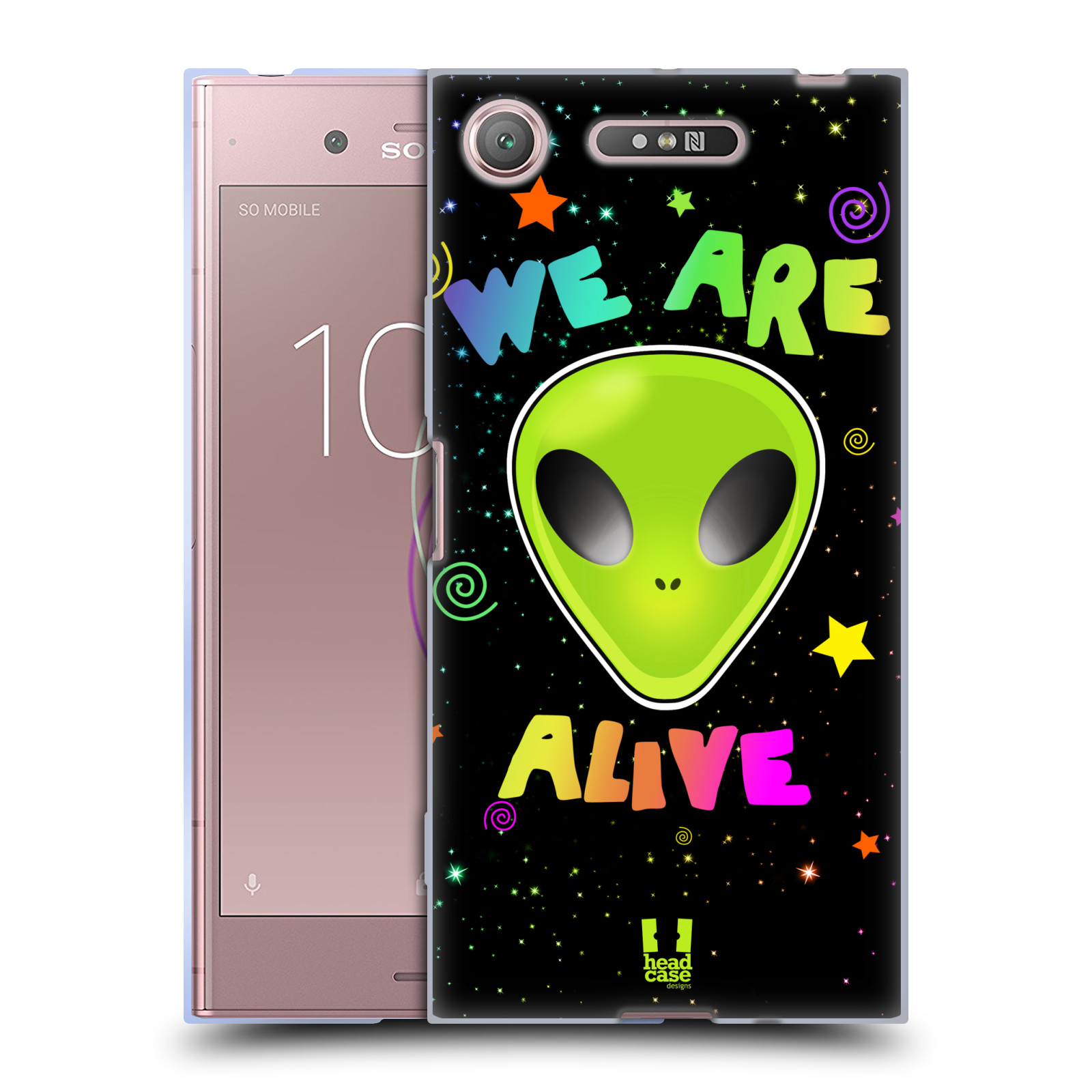 Silikonové pouzdro na mobil Sony Xperia XZ1 - Head Case - ALIENS ALIVE