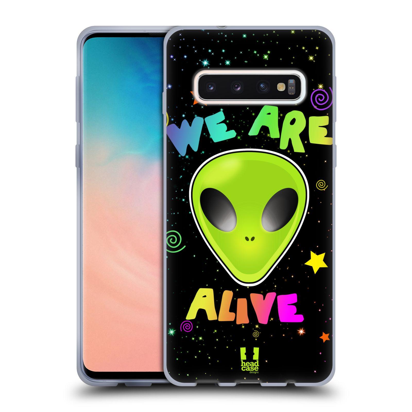 Silikonové pouzdro na mobil Samsung Galaxy S10 - Head Case - ALIENS ALIVE