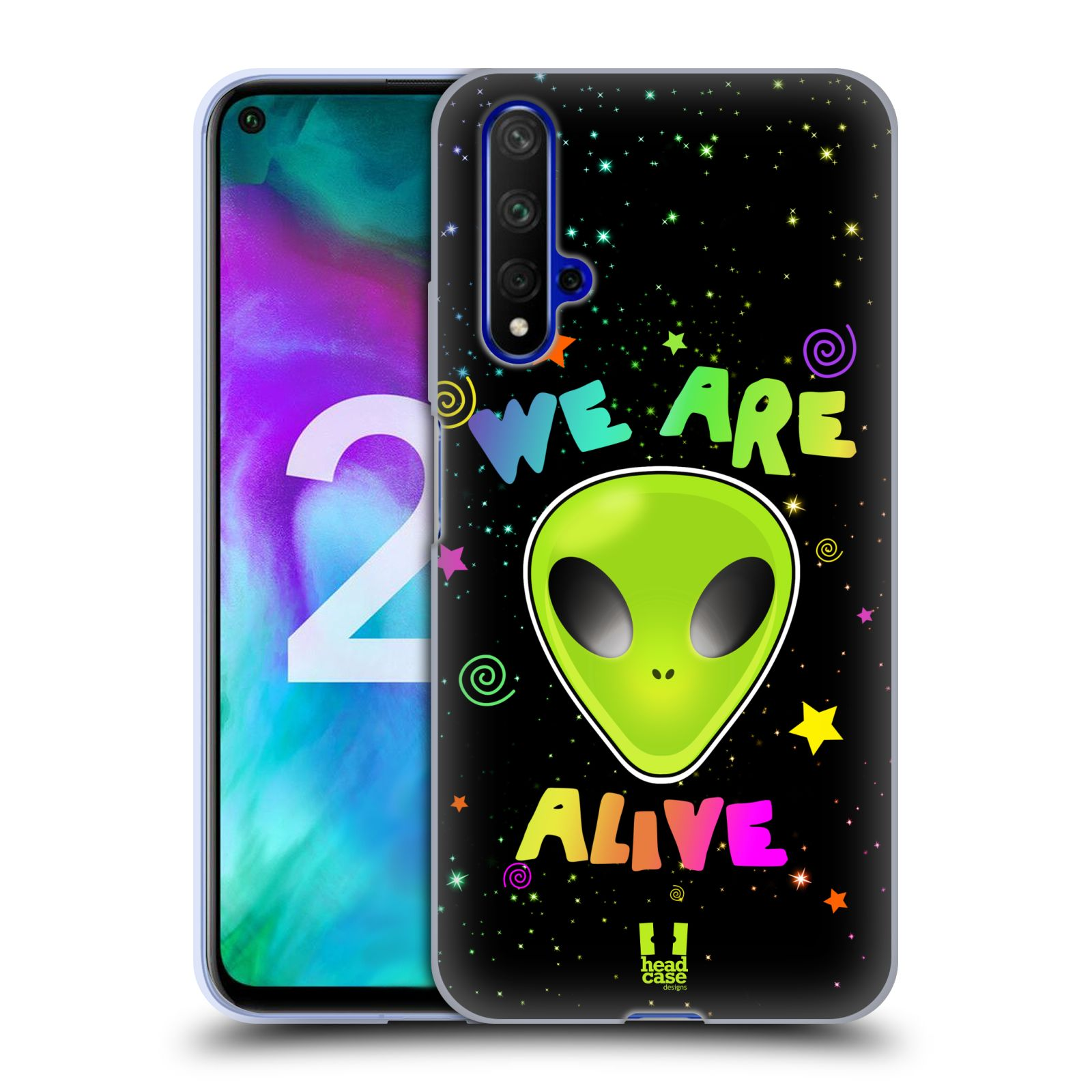Silikonové pouzdro na mobil Honor 20 - Head Case - ALIENS ALIVE