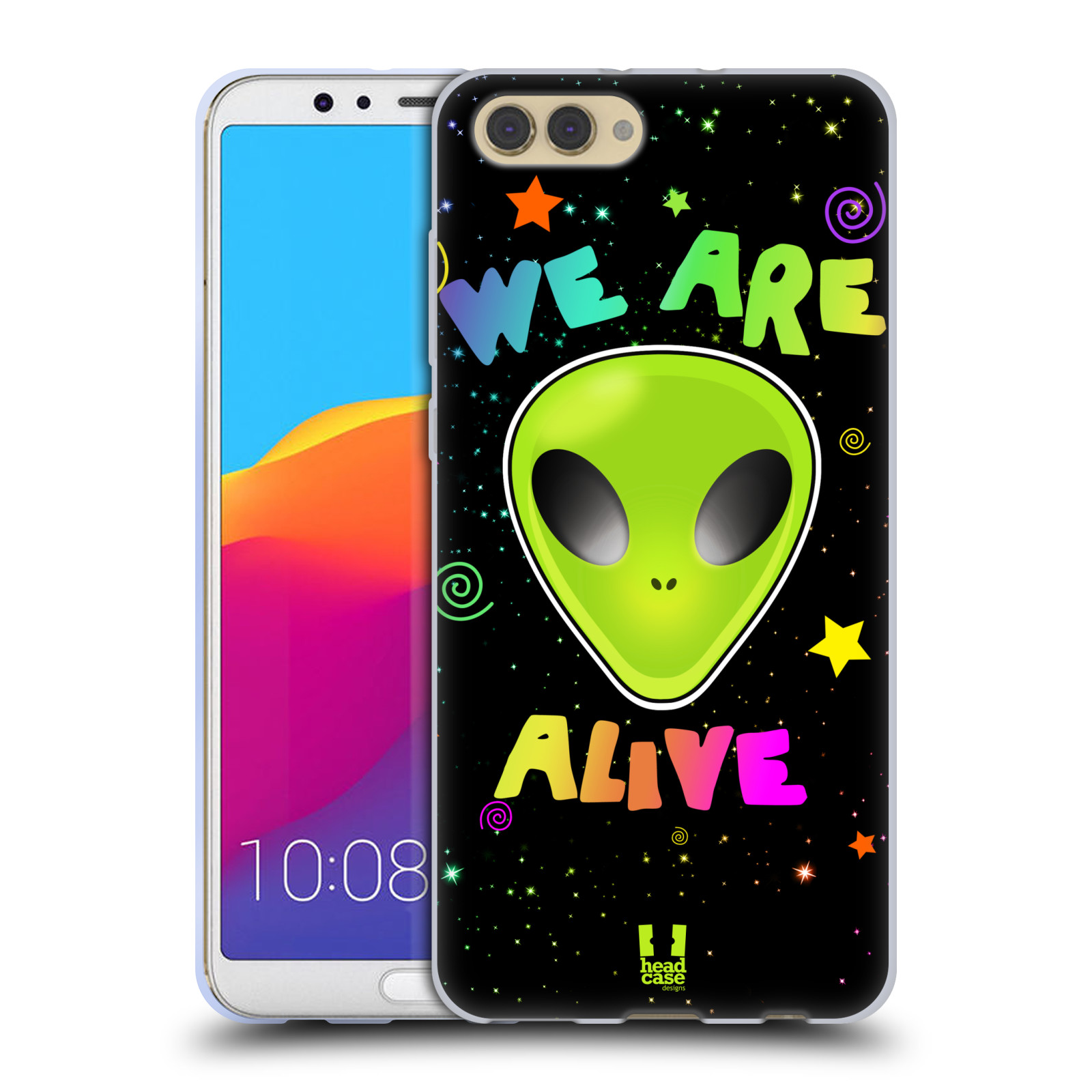 Silikonové pouzdro na mobil Honor View 10 - Head Case - ALIENS ALIVE
