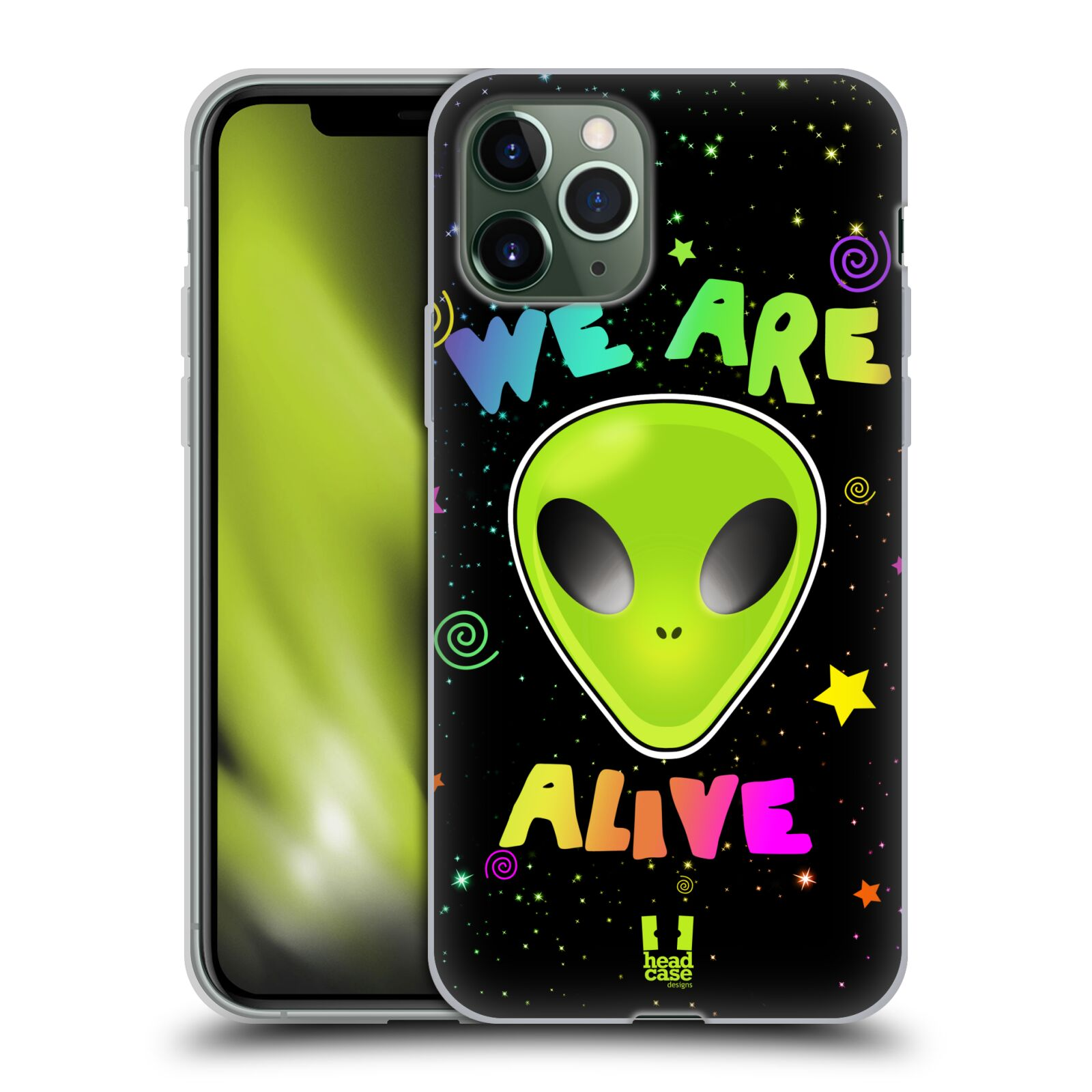 gucci case iphone 8 ebay | Silikonové pouzdro na mobil Apple iPhone 11 Pro - Head Case - ALIENS ALIVE
