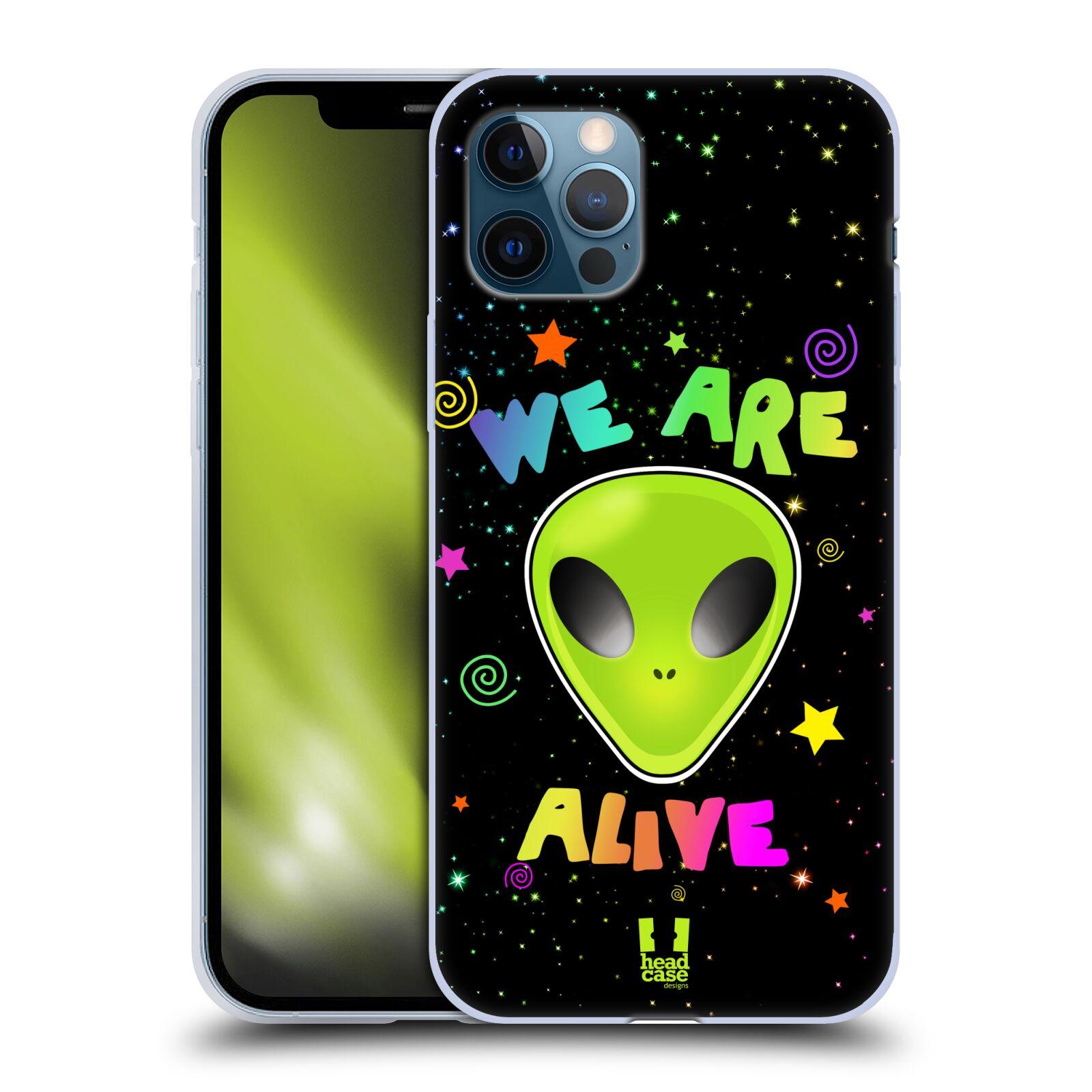 Silikonové pouzdro na mobil Apple iPhone 12 / 12 Pro - Head Case - ALIENS ALIVE