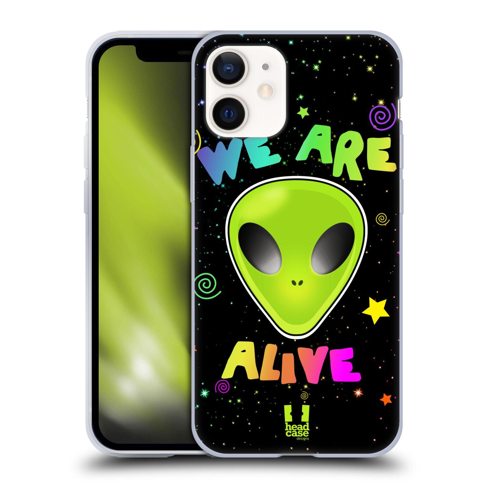 Silikonové pouzdro na mobil Apple iPhone 12 Mini - Head Case - ALIENS ALIVE