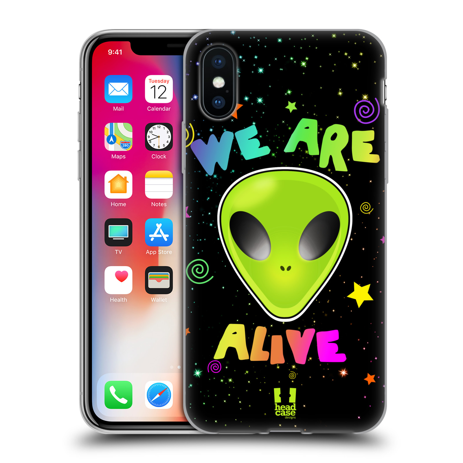 Silikonové pouzdro na mobil Apple iPhone XS - Head Case - ALIENS ALIVE
