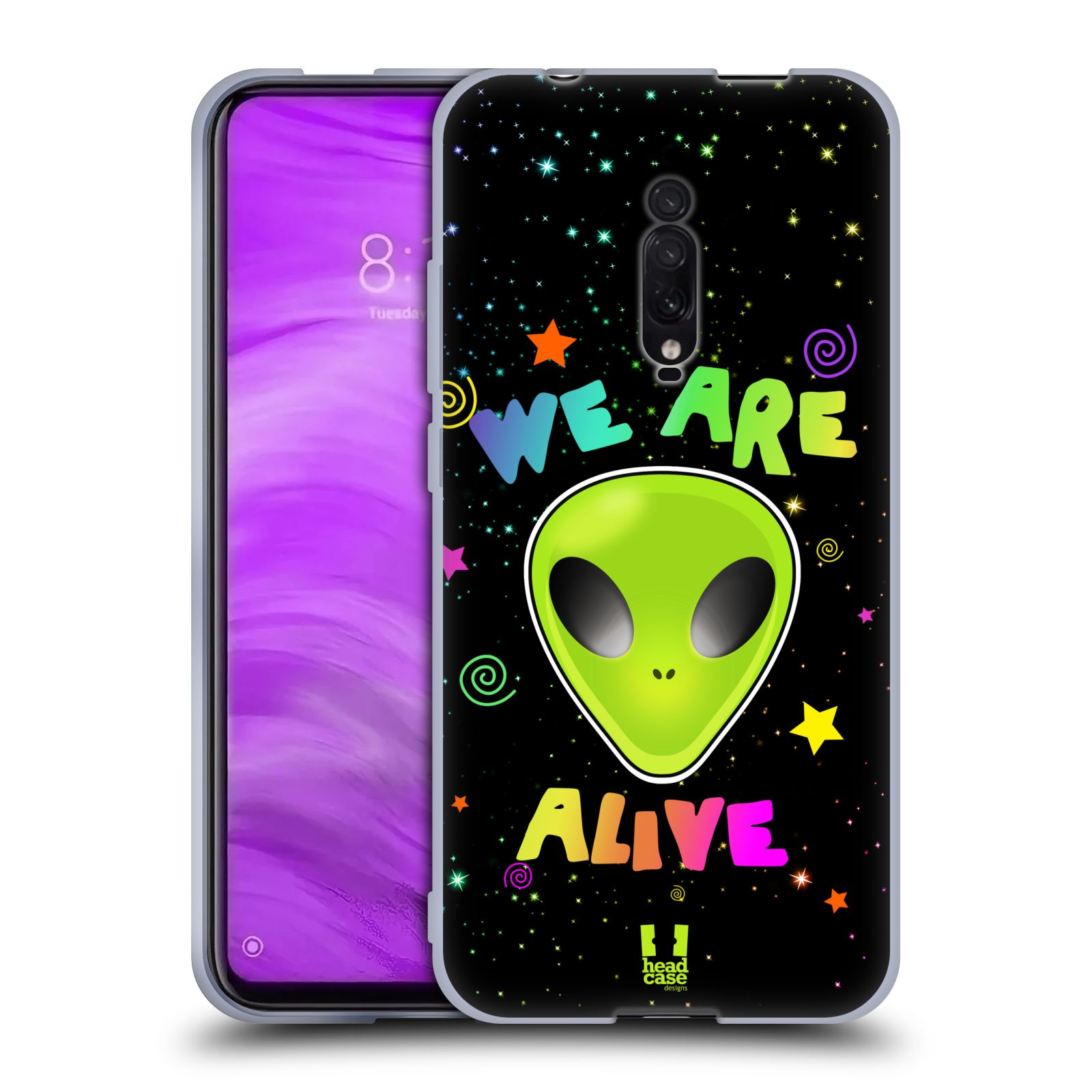 Silikonové pouzdro na mobil Xiaomi Mi 9T - Head Case - ALIENS ALIVE