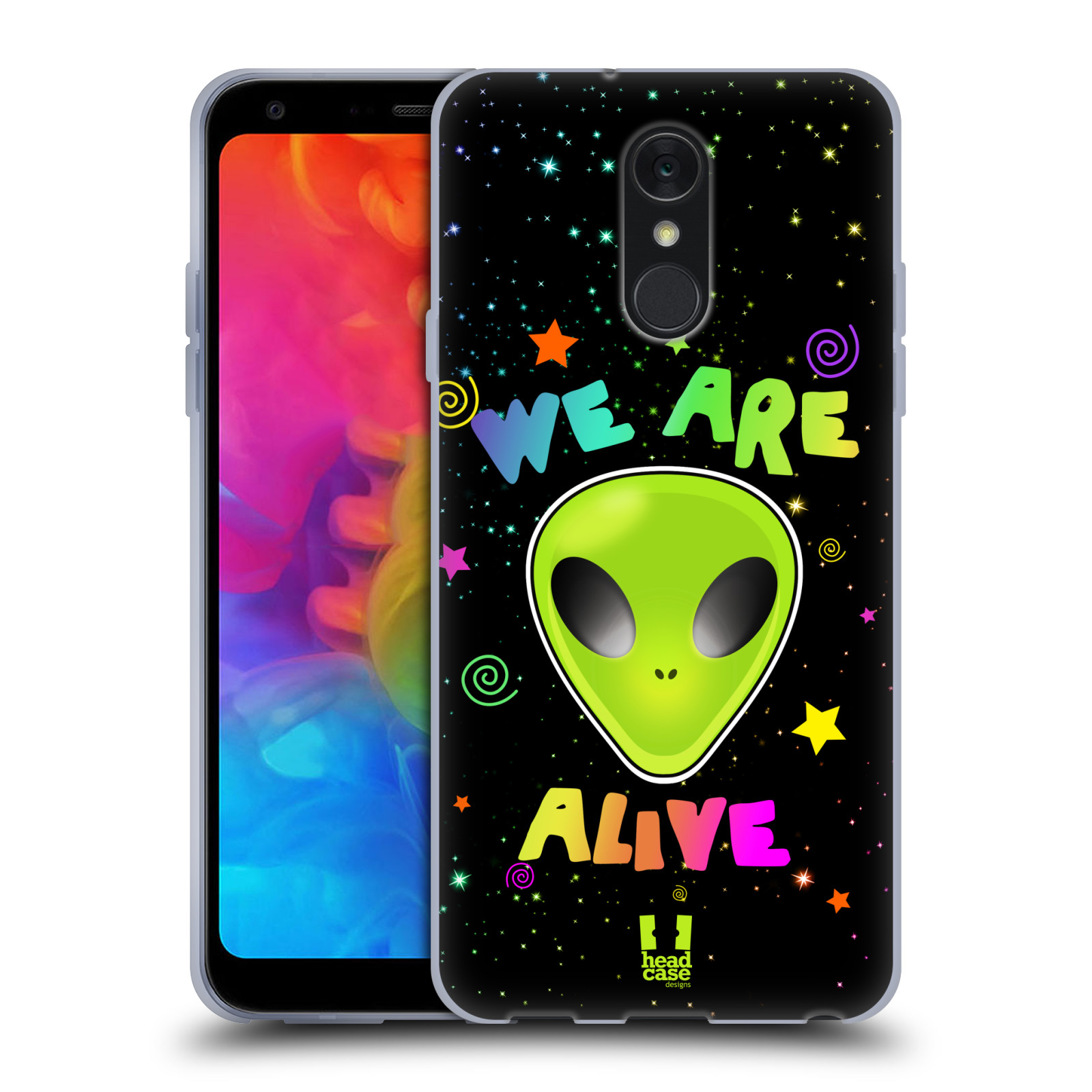 Silikonové pouzdro na mobil LG Q7 - Head Case - ALIENS ALIVE
